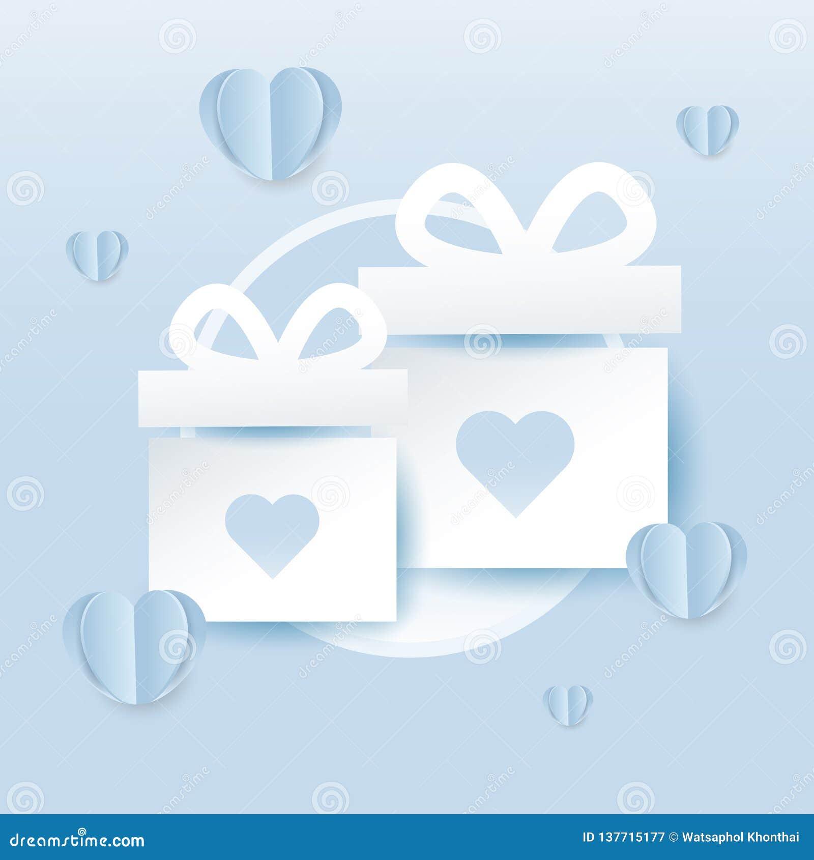 Valentines Gift Box Icon Design For Banner Or Invitation