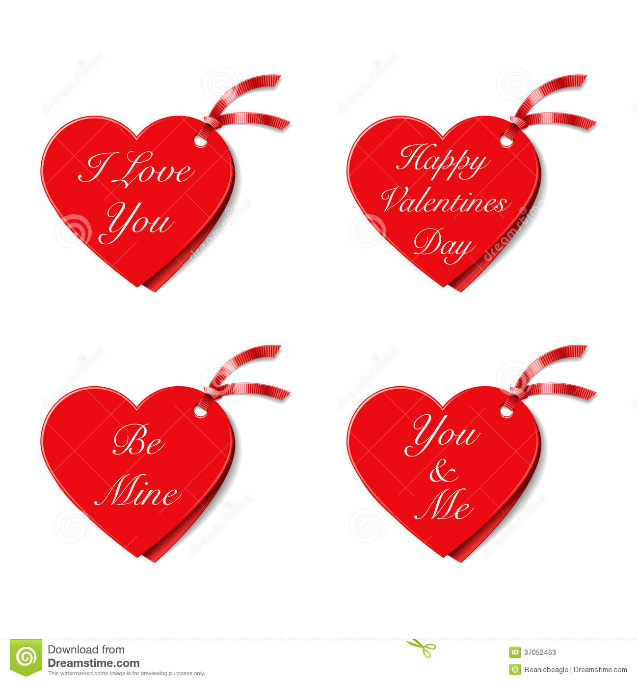 Valentines Gift Tags Stock Photos - Image: 37052463