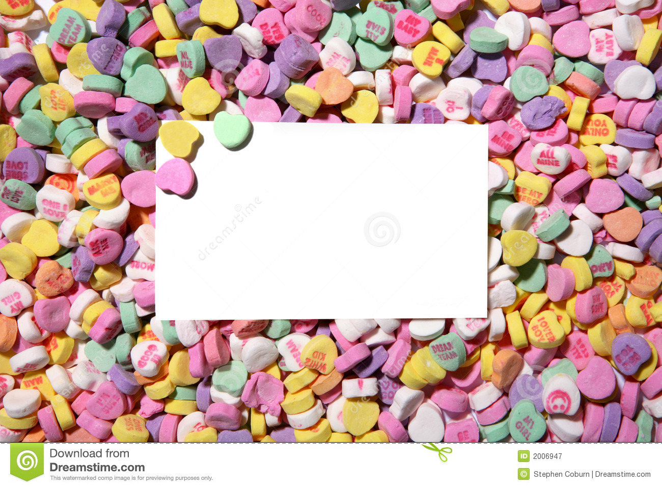 Valentines Heart Candy Background Royalty Free Stock ...