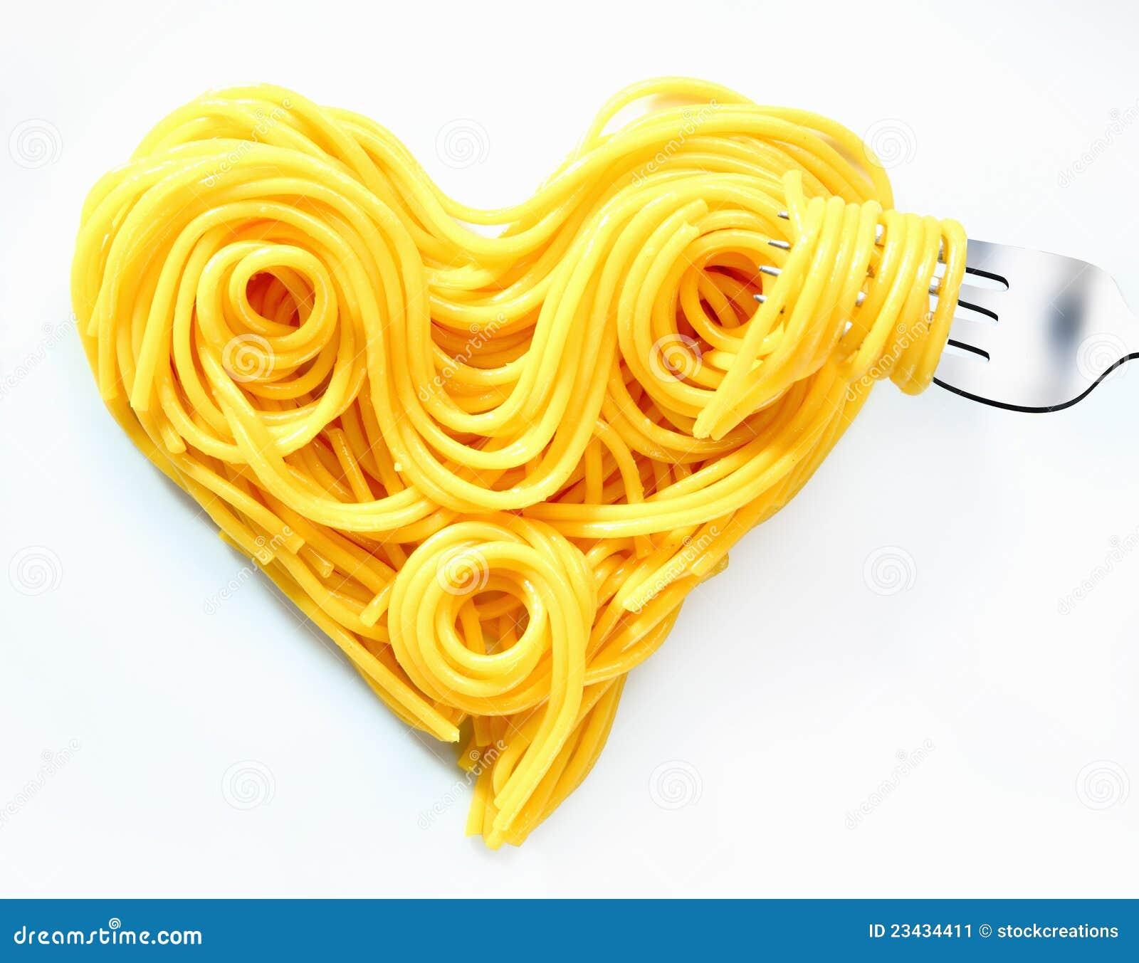 Valentines Heart Spaghetti Stock Image Image Of Delicious