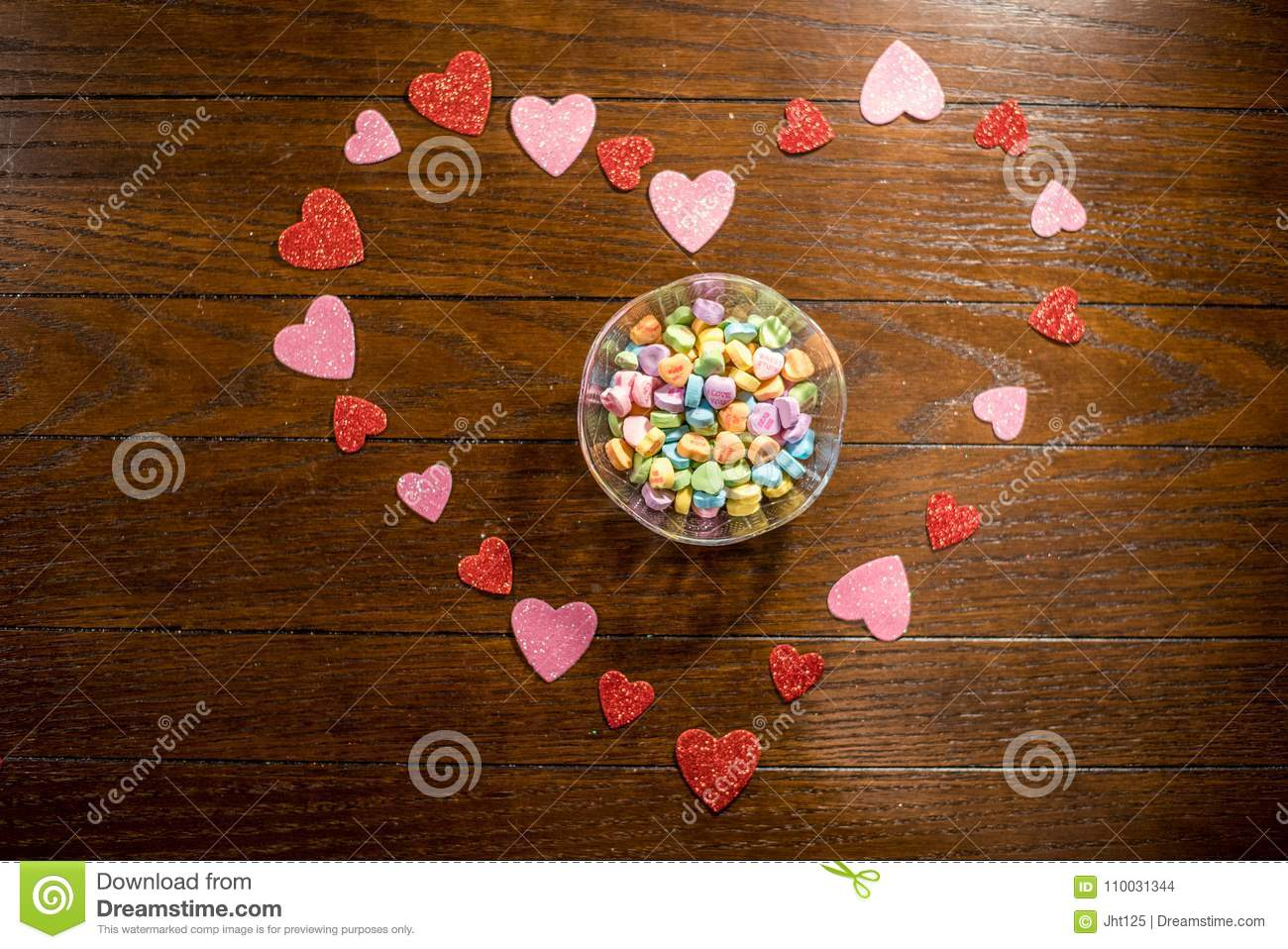 Valentines Heart and Sweet Heart Candies