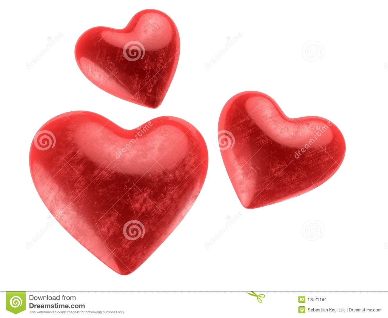 Valentines Hearts Stock Images - Image: 12521194