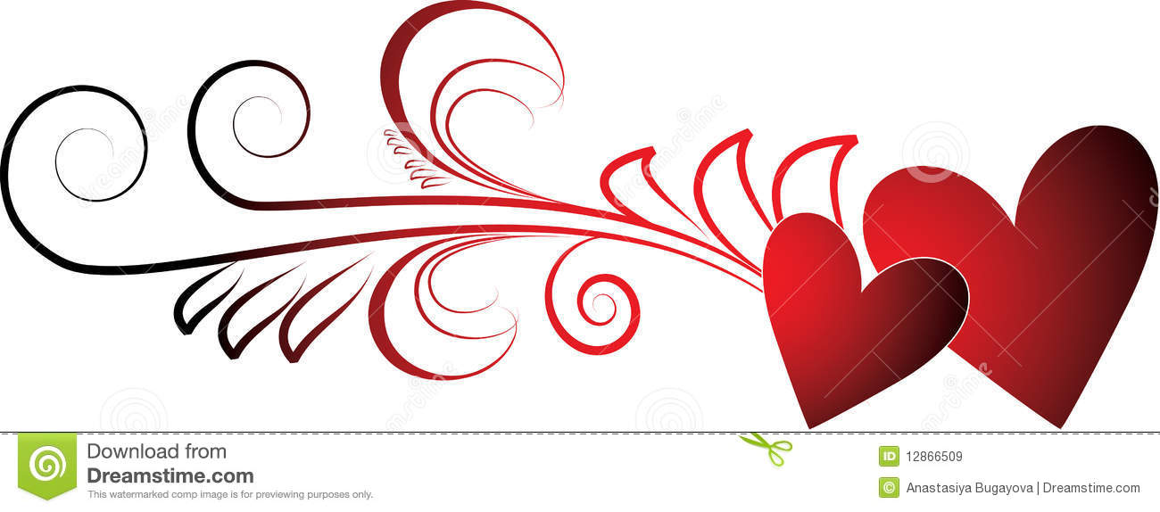 Valentines Hearts Royalty Free Stock Images - Image: 12866509
