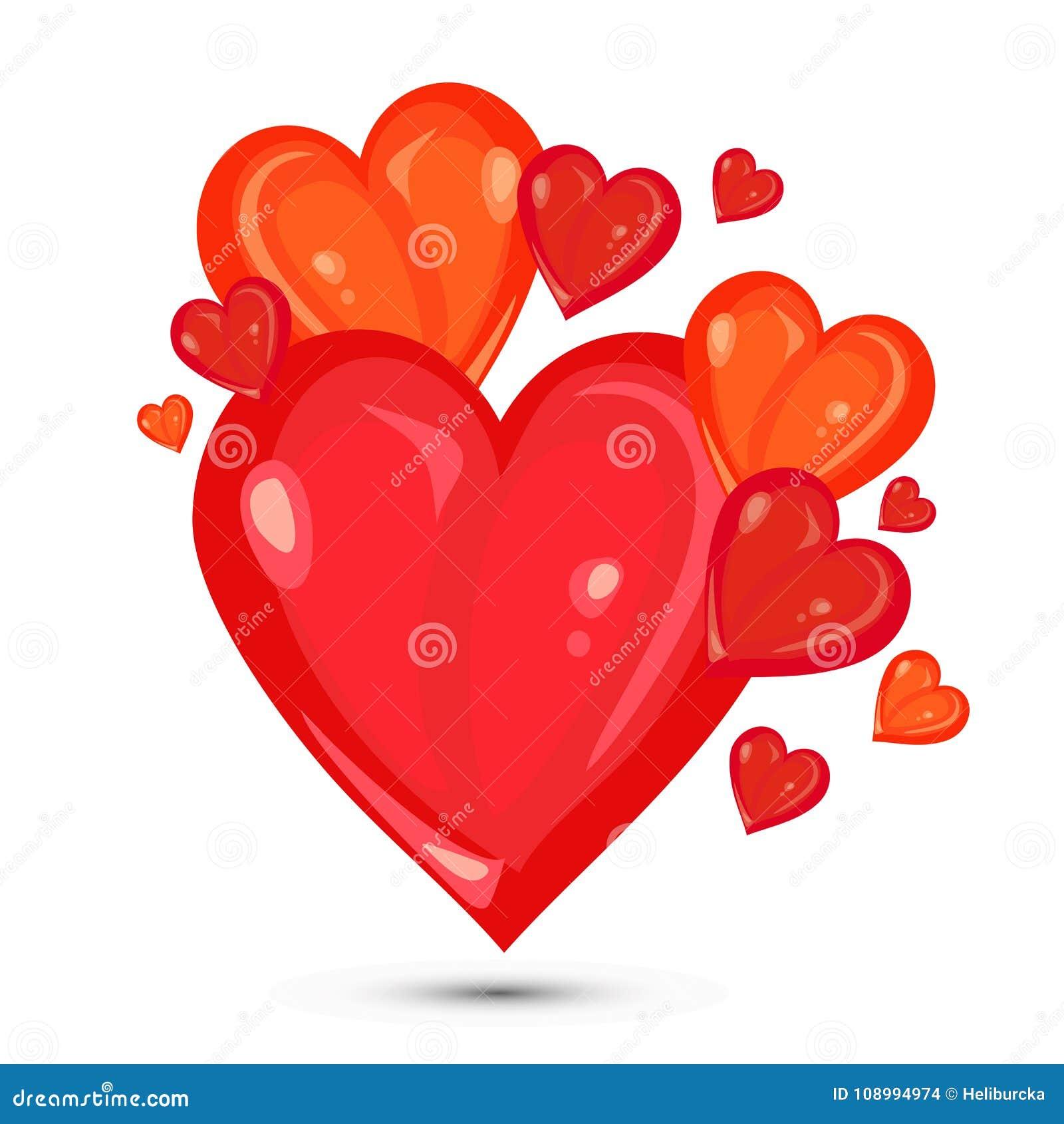 Valentines Hearts Illustration Stock Vector - Illustration of ...