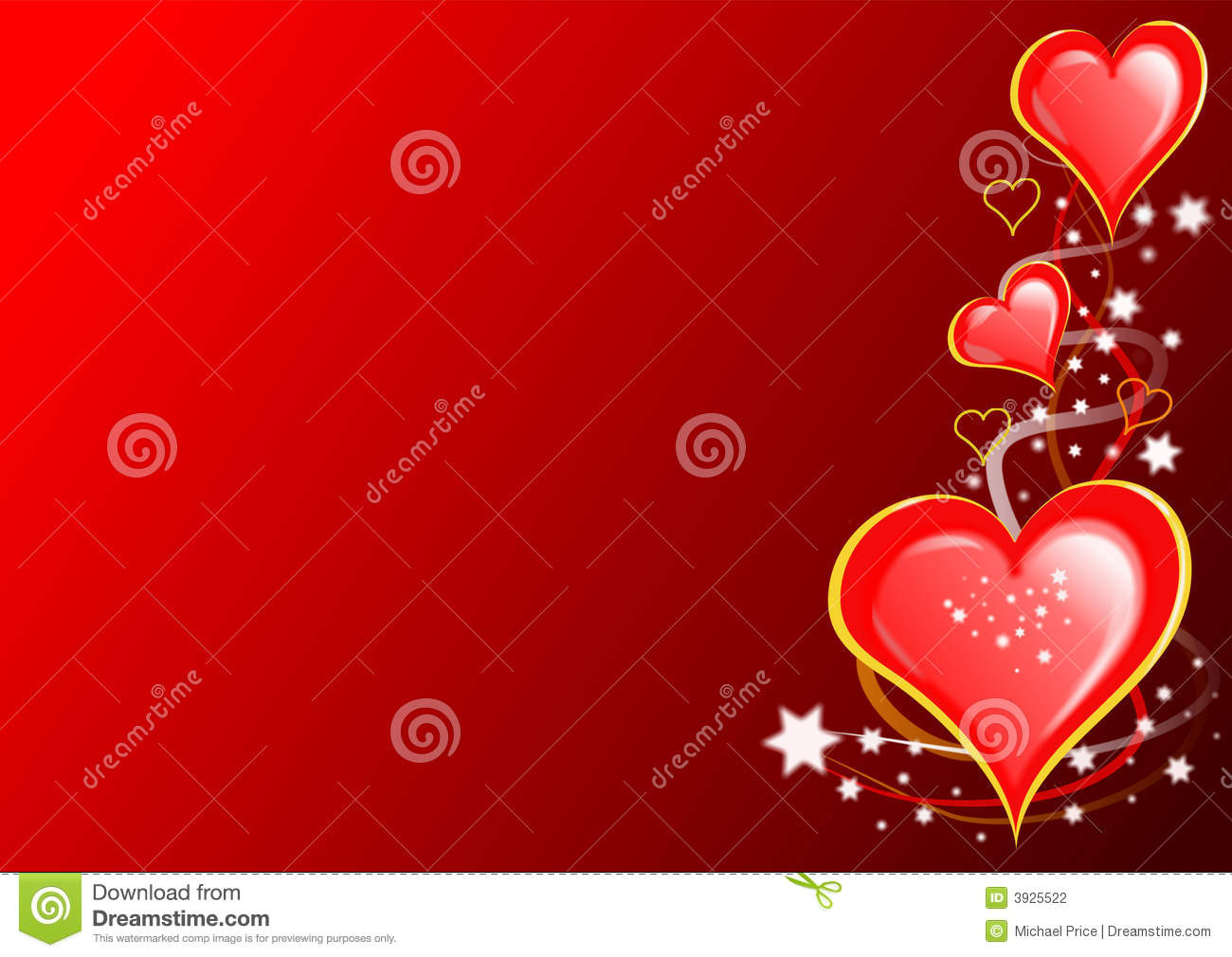 Valentines Hearts And Stars Stock Photography - Image: 3925522