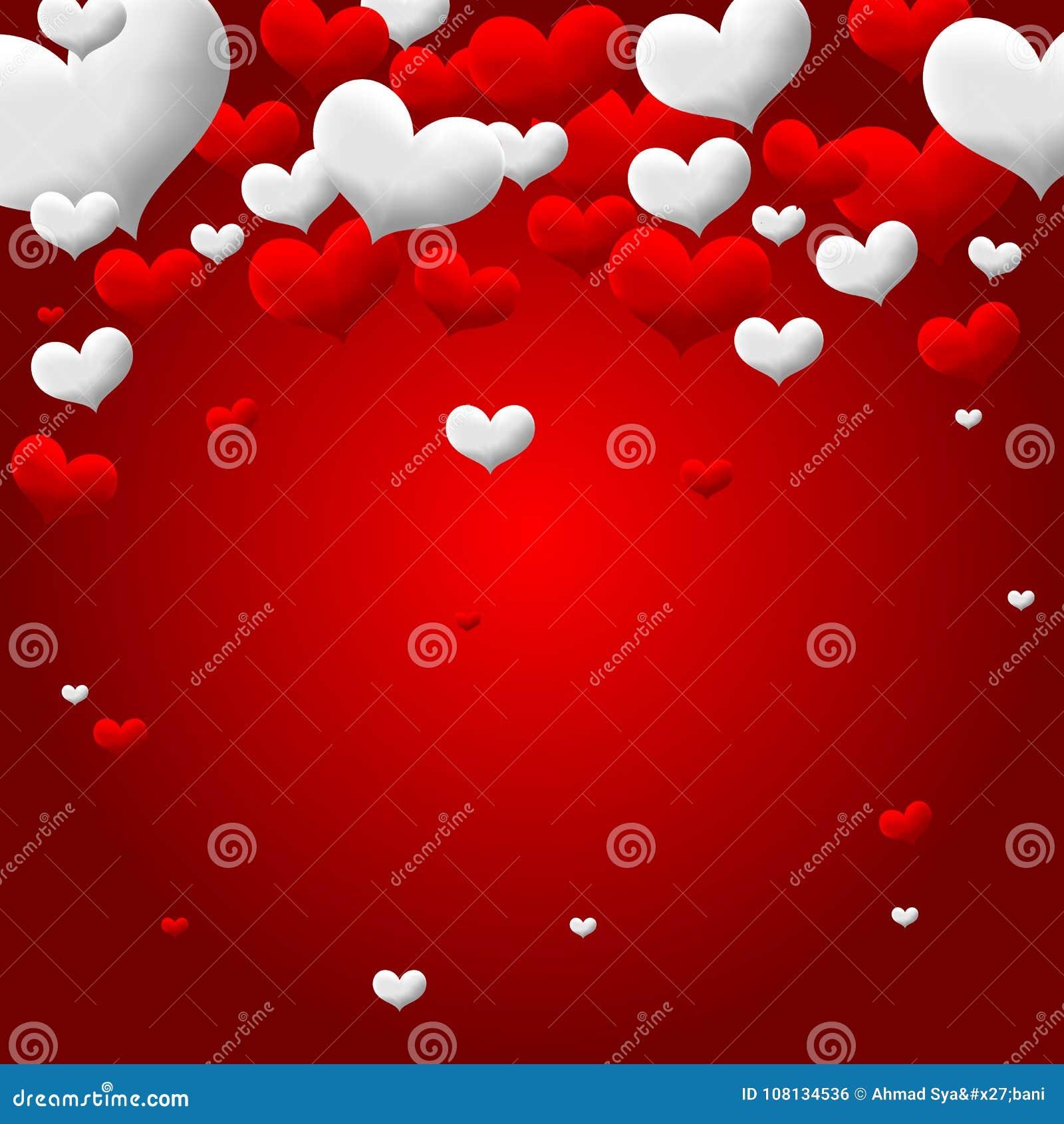 Valentines Love heart background