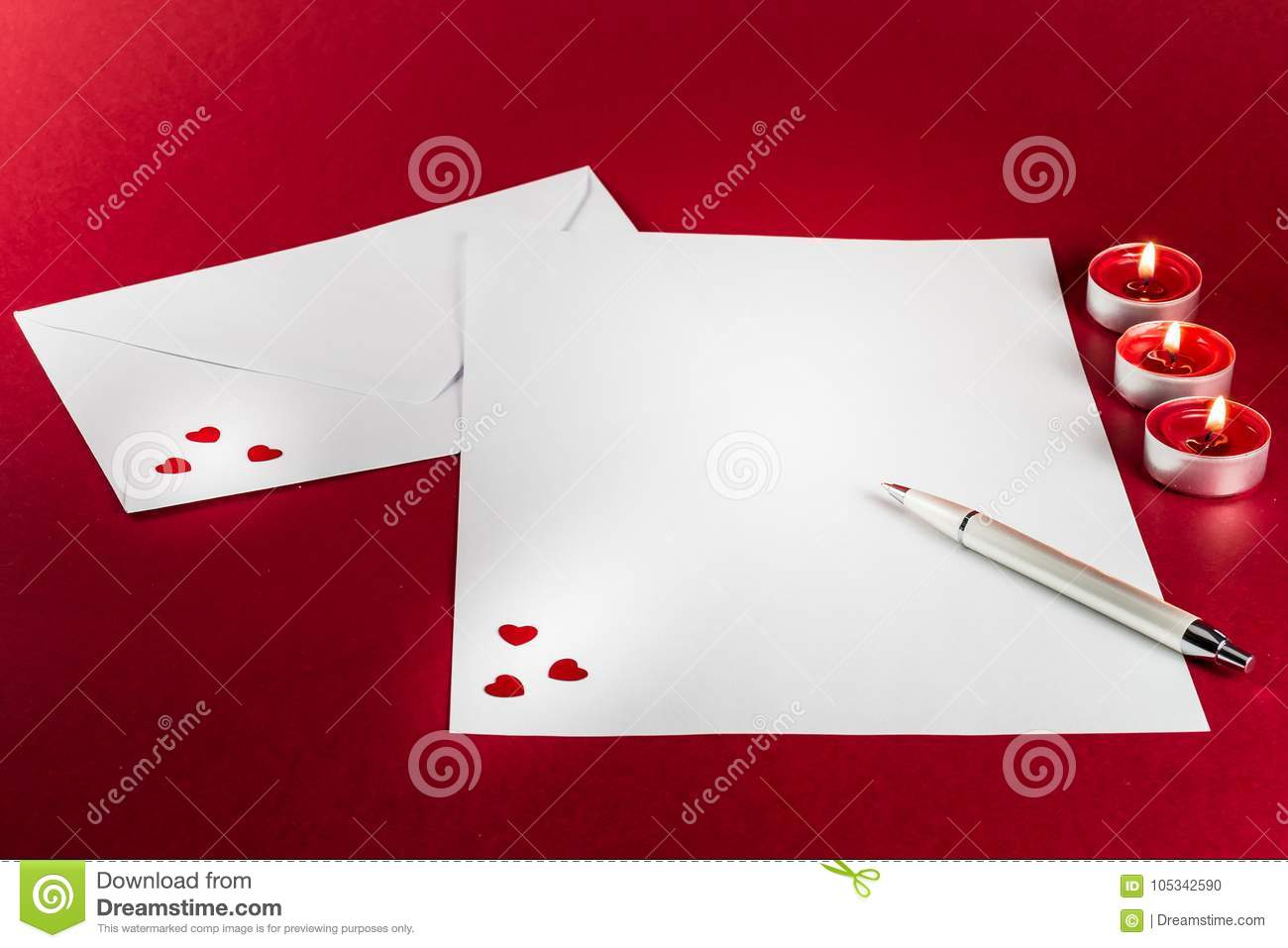 Valentines love letter writing setup with envelope paper red download comp spiritdancerdesigns Choice Image