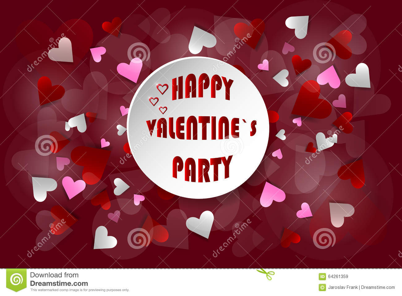 Schön Valentines Party Invitation Card