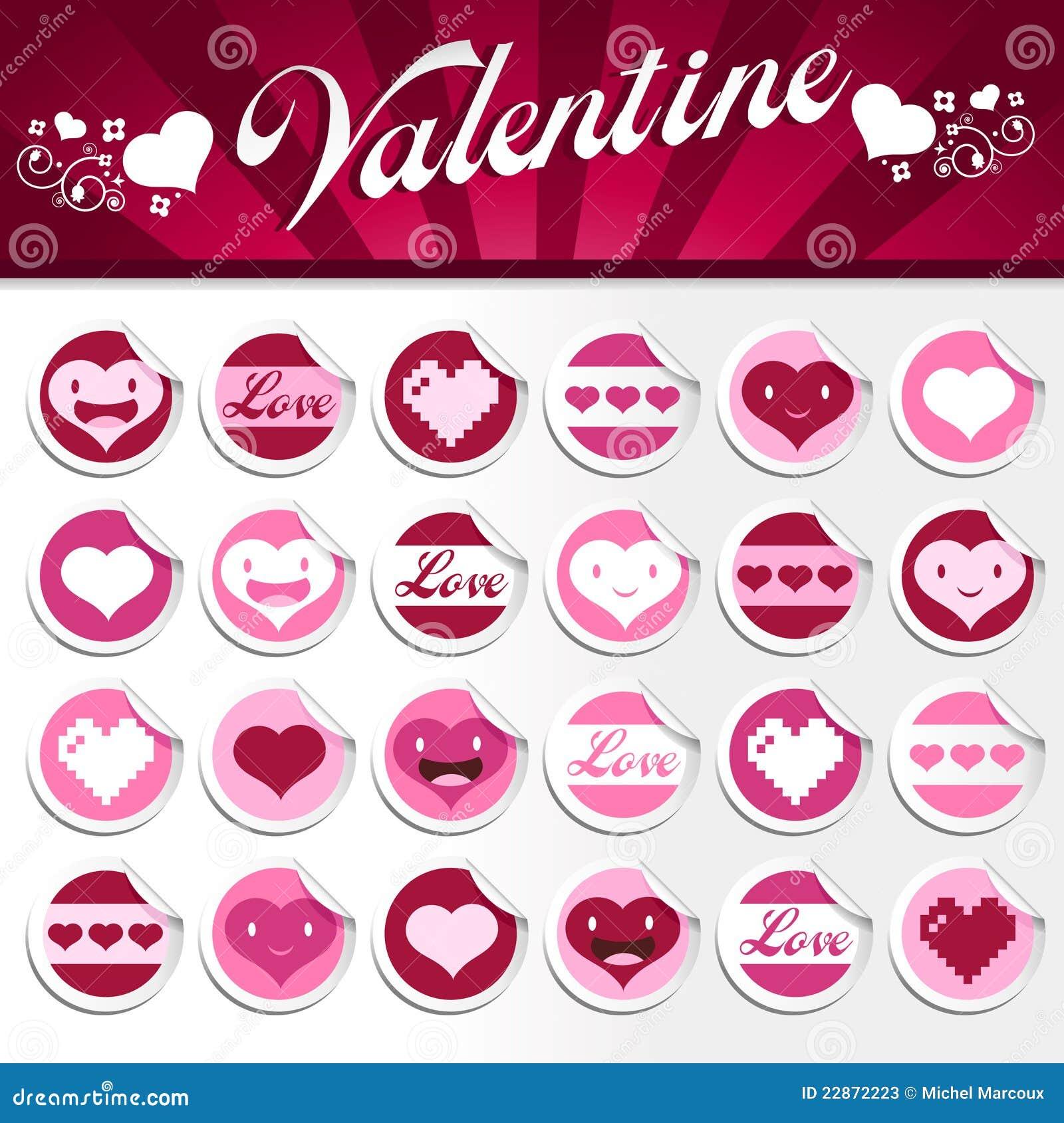 valentines stickers - Valentines Day Stickers