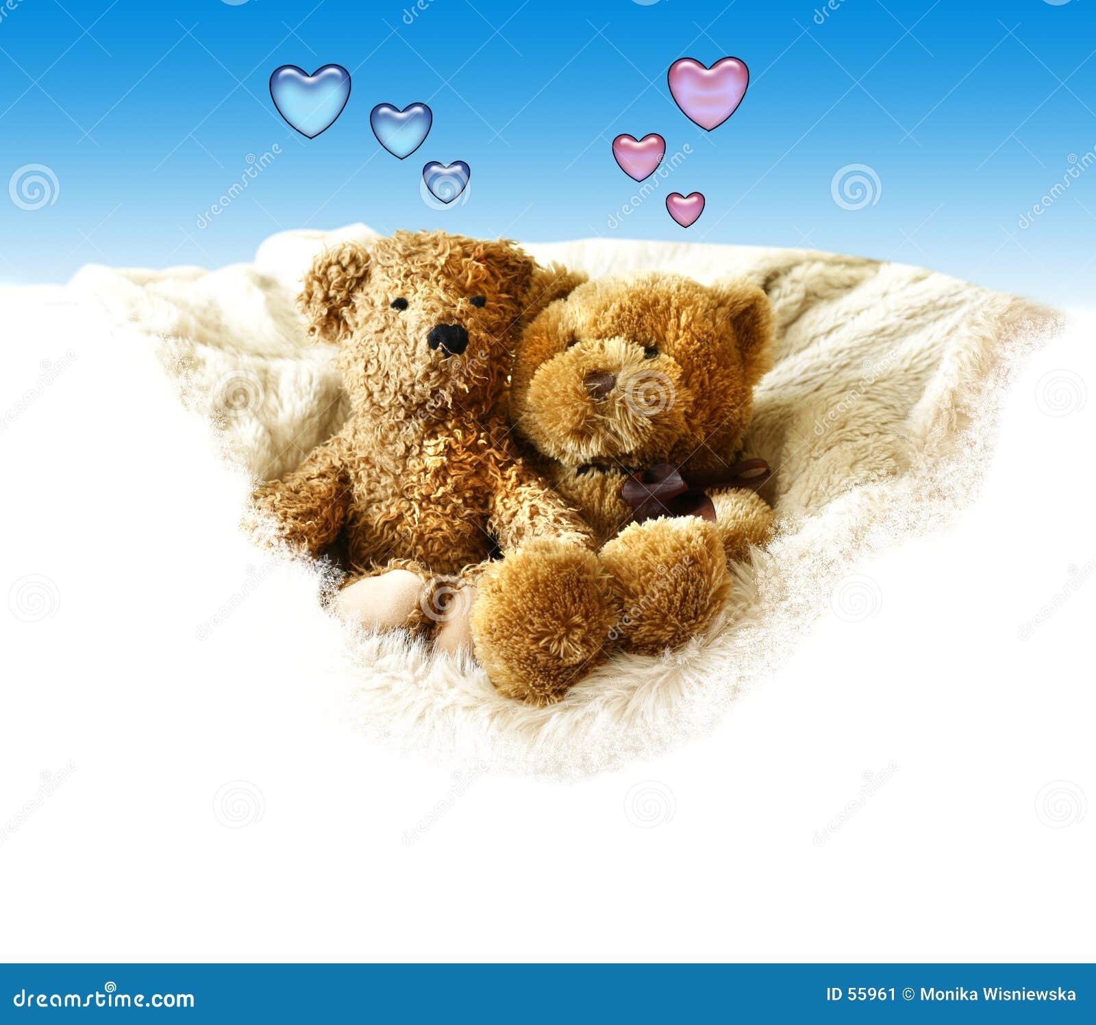 Download Valentines - Teddybears image stock. Image du amour, brun - 55961
