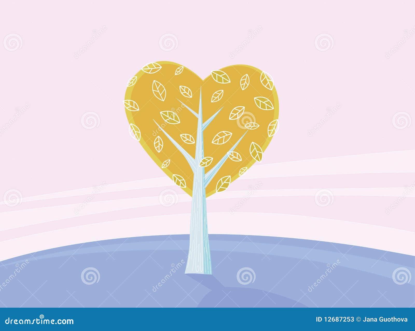 Valentines tree of love