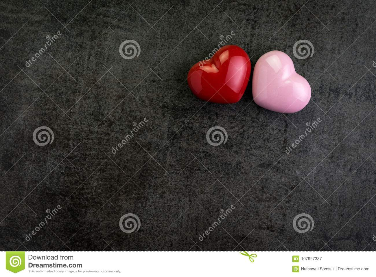 Valentines Wallpaper Or Background With Red And Pink Heart