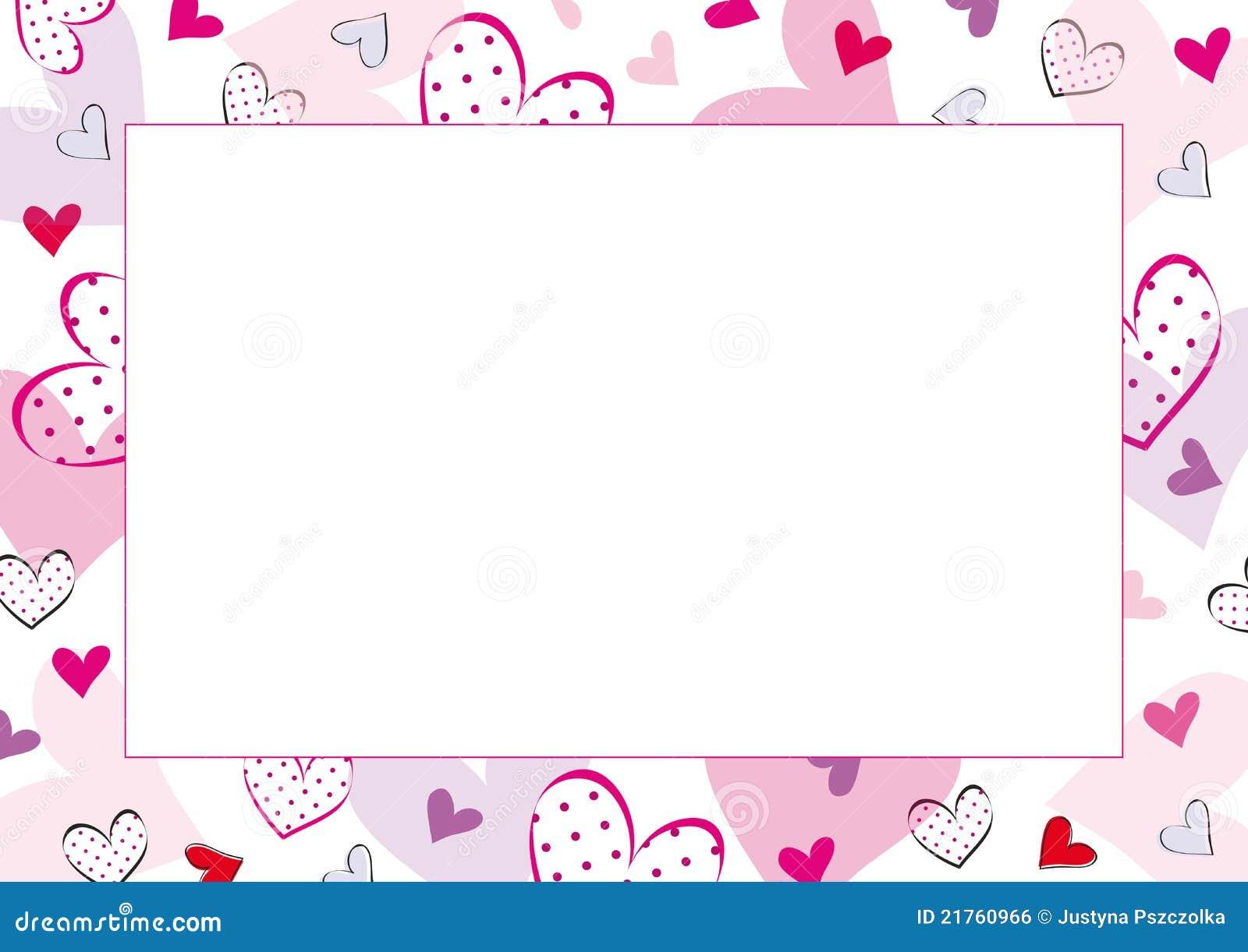 Valentines Or Wedding Frame Stock Vector - Illustration of dots ...
