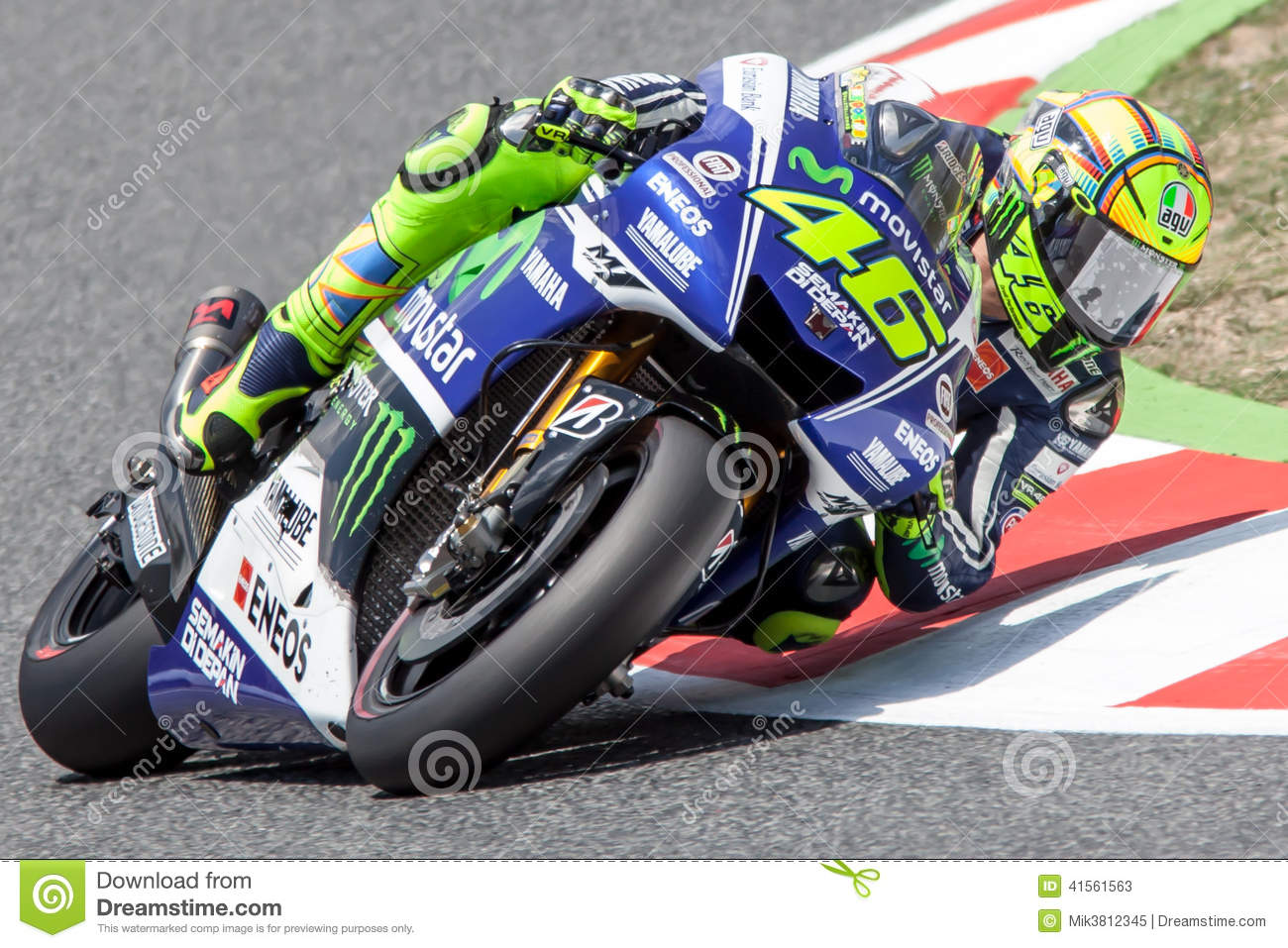 valentino rosi monster energy grand prix of catalunya motogp editorial stock photo image. Black Bedroom Furniture Sets. Home Design Ideas