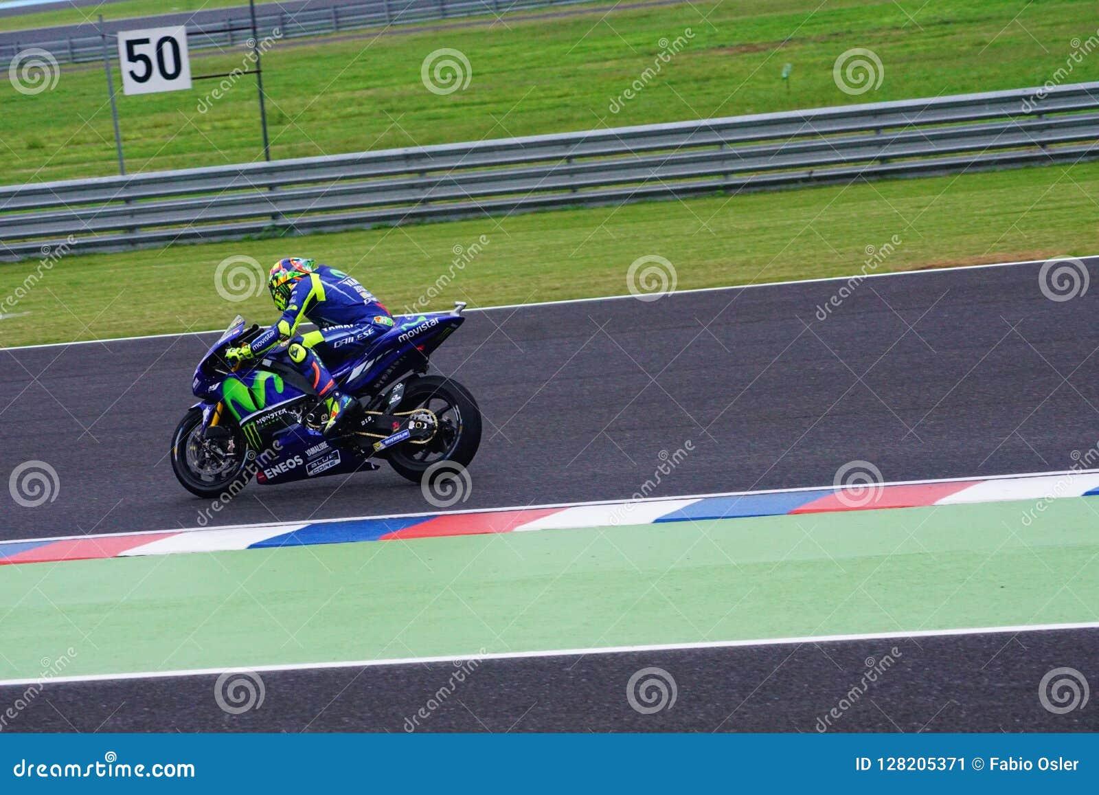 Valentino Rossi, qualifying in Termas de rio Hondo