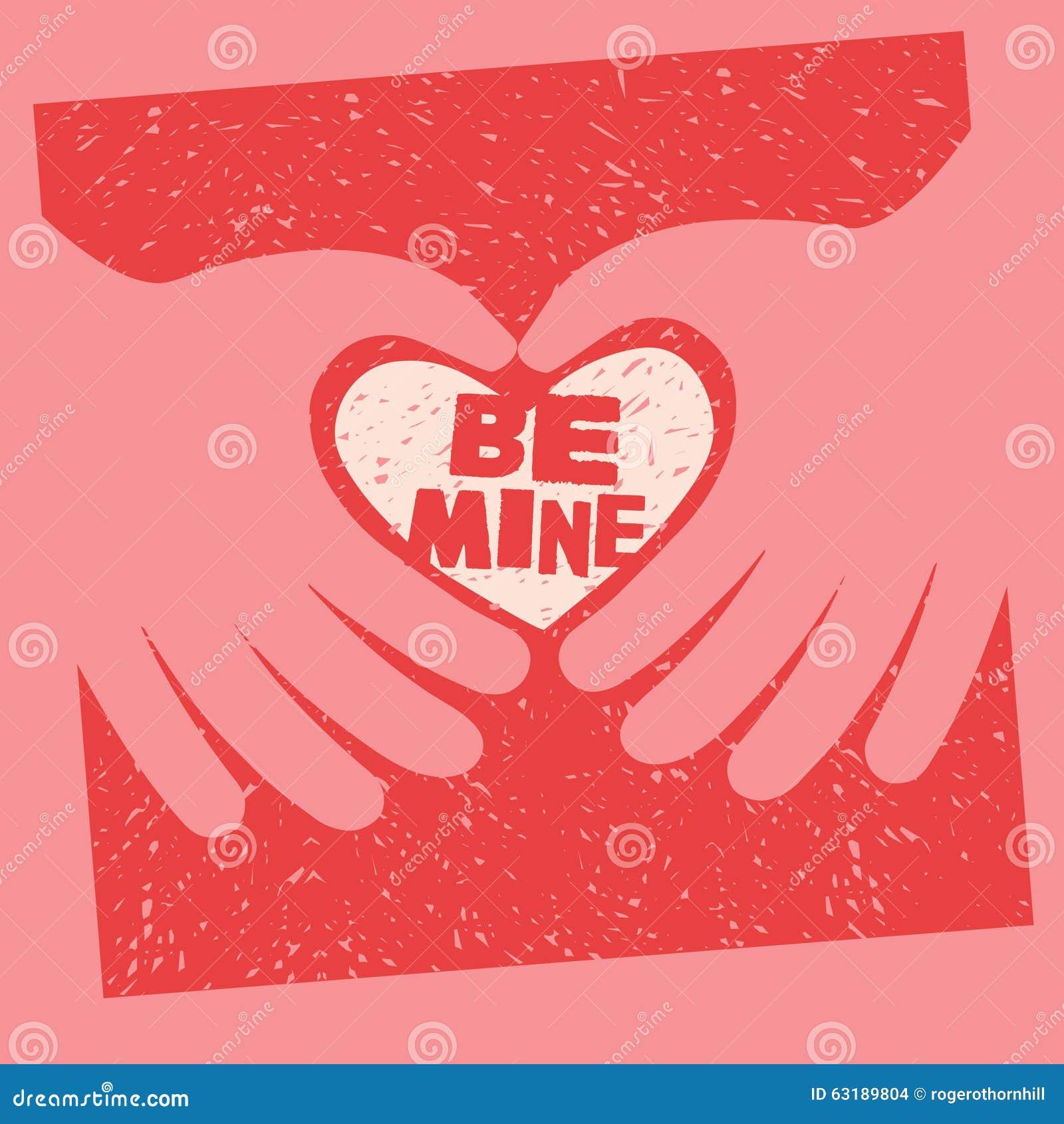 Valentins dagkortet med meddelandet är min