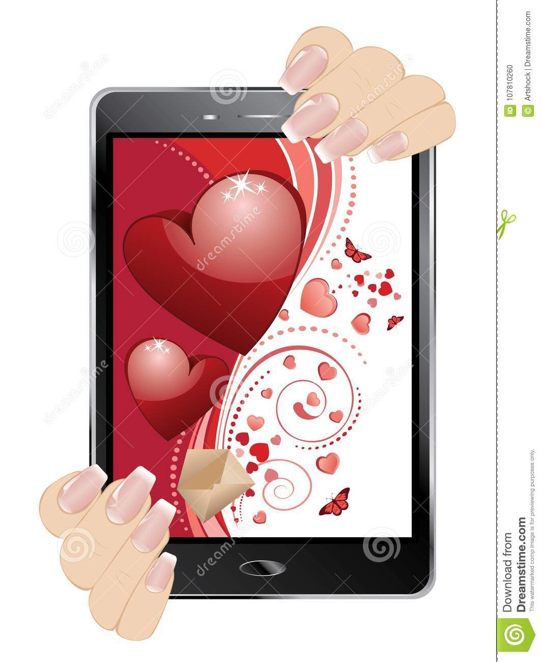 Valentins Day Greeting On Display Stock Vector Illustration Of