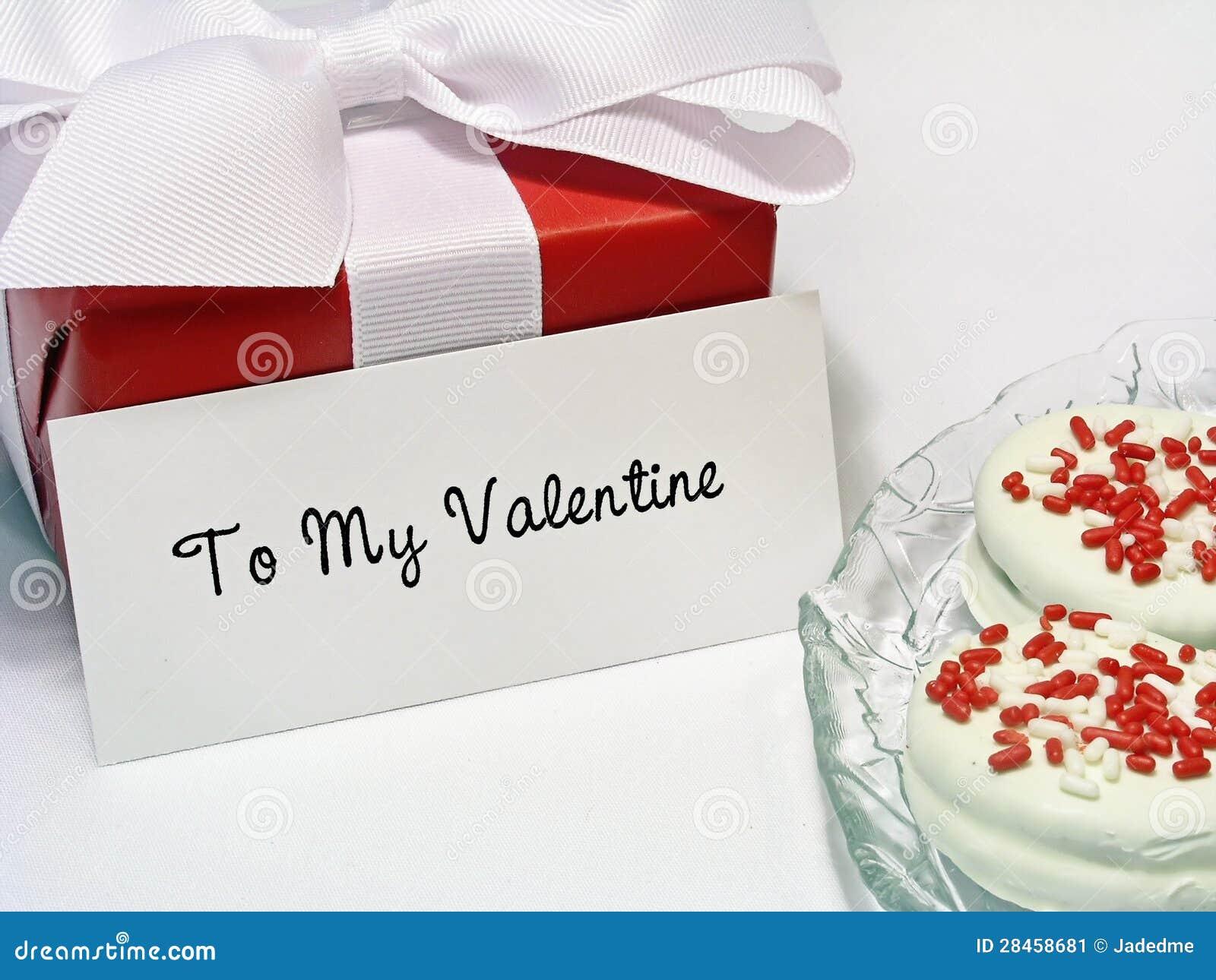 Valentinsgruß-Geschenk mit Marke