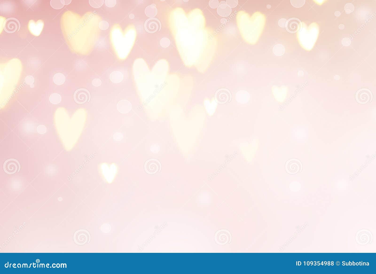 Valentinsgruß ` s Tageshintergrund Abstrakte Herzen auf rosa Feiertagshintergrund