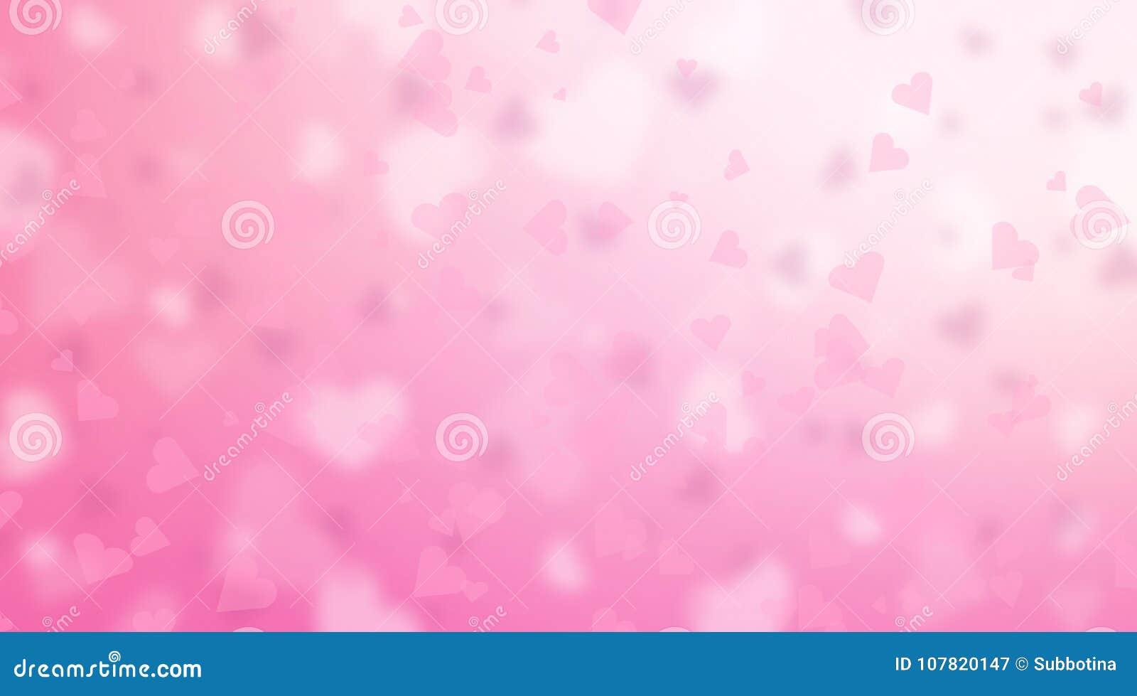 Valentinsgruß ` s Tageshintergrund Abstrakter rosa Herzhintergrund