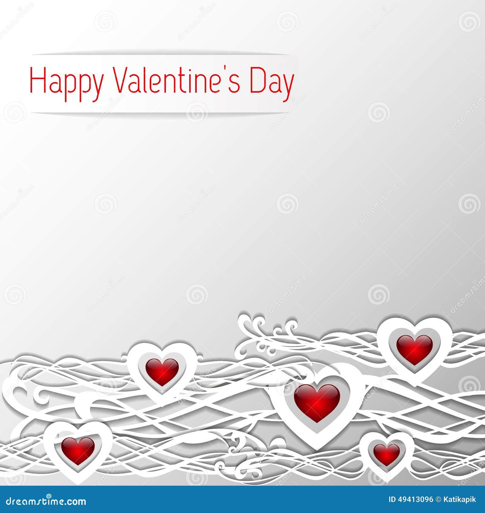 Download Valentinsgruß-Tagesherz-Design Auf Weißem Hintergrund Vektor Abbildung - Illustration von geschenk, meldung: 49413096