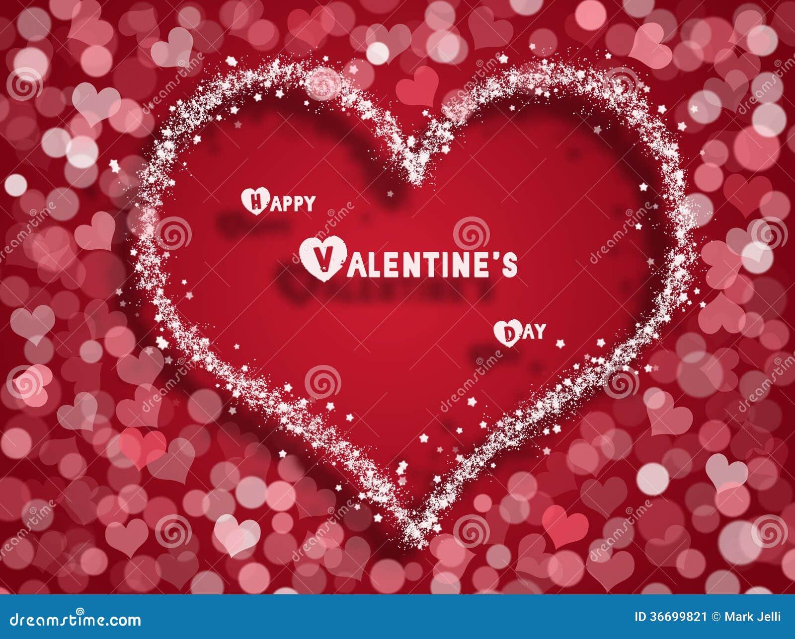 Valentinsgruß-Tageskarte