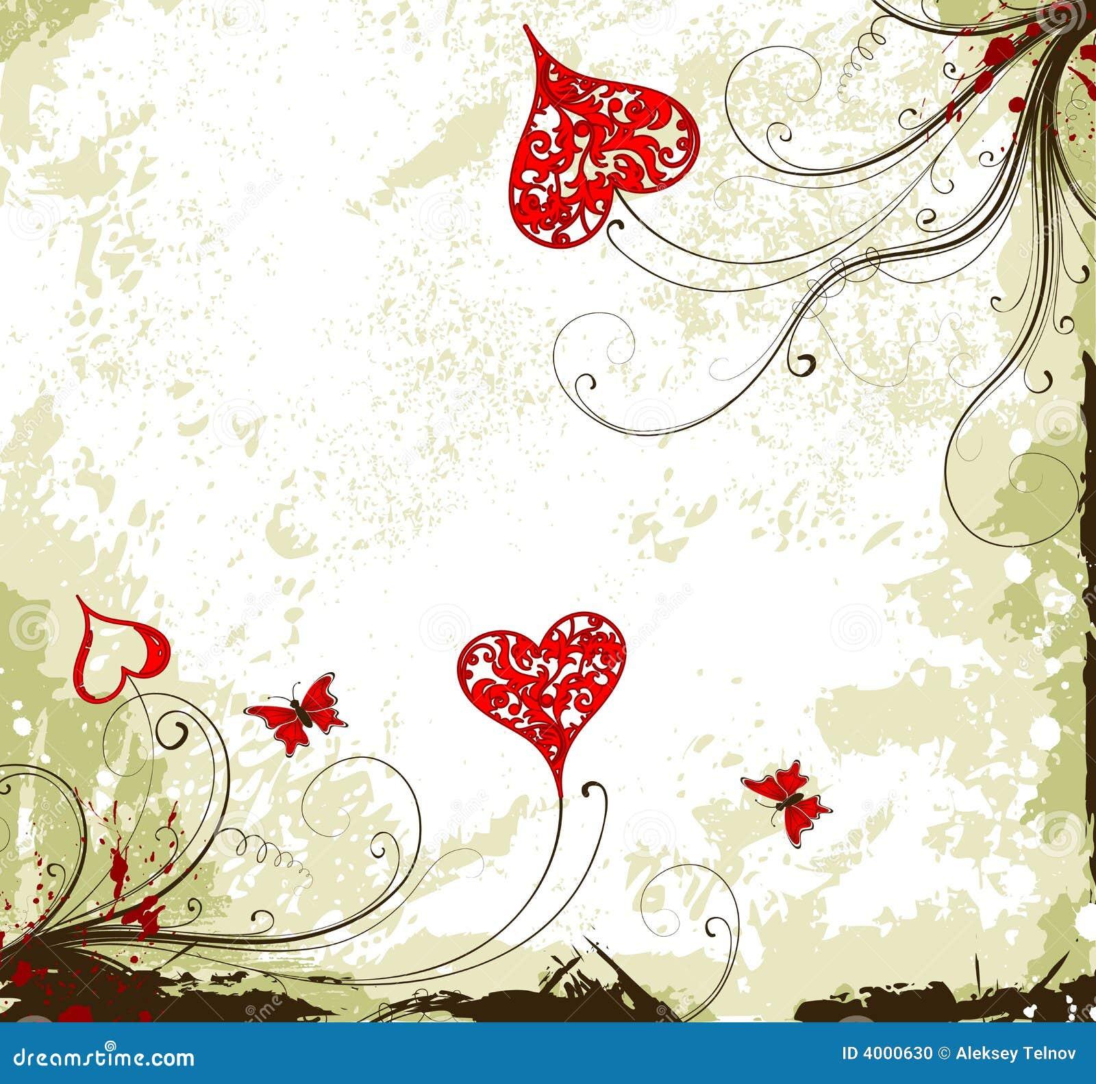 Valentinsgruß-Taggrunge Hintergrund mit Inneren und f