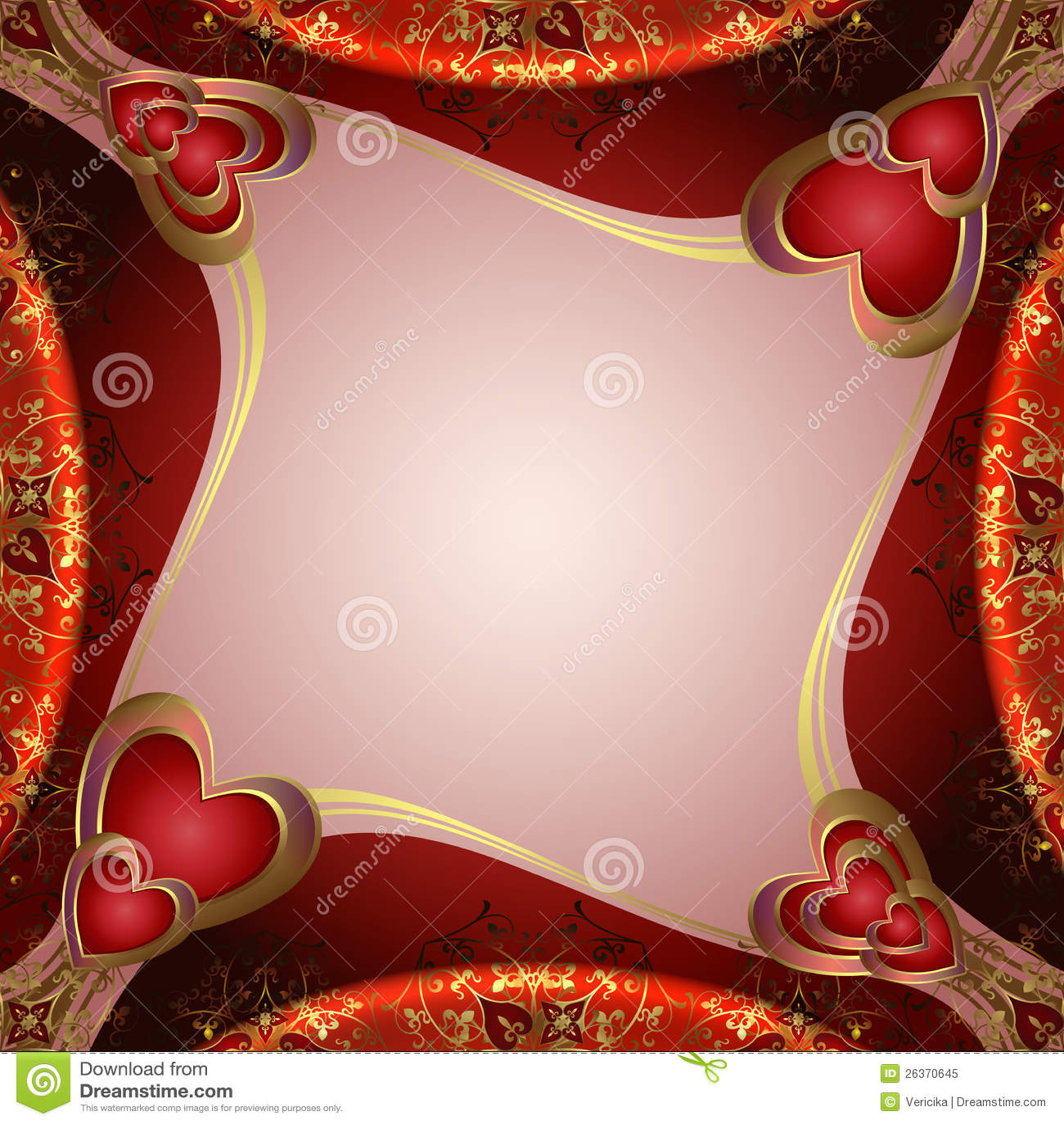 Valentinsgrußhintergrund mit Inneren