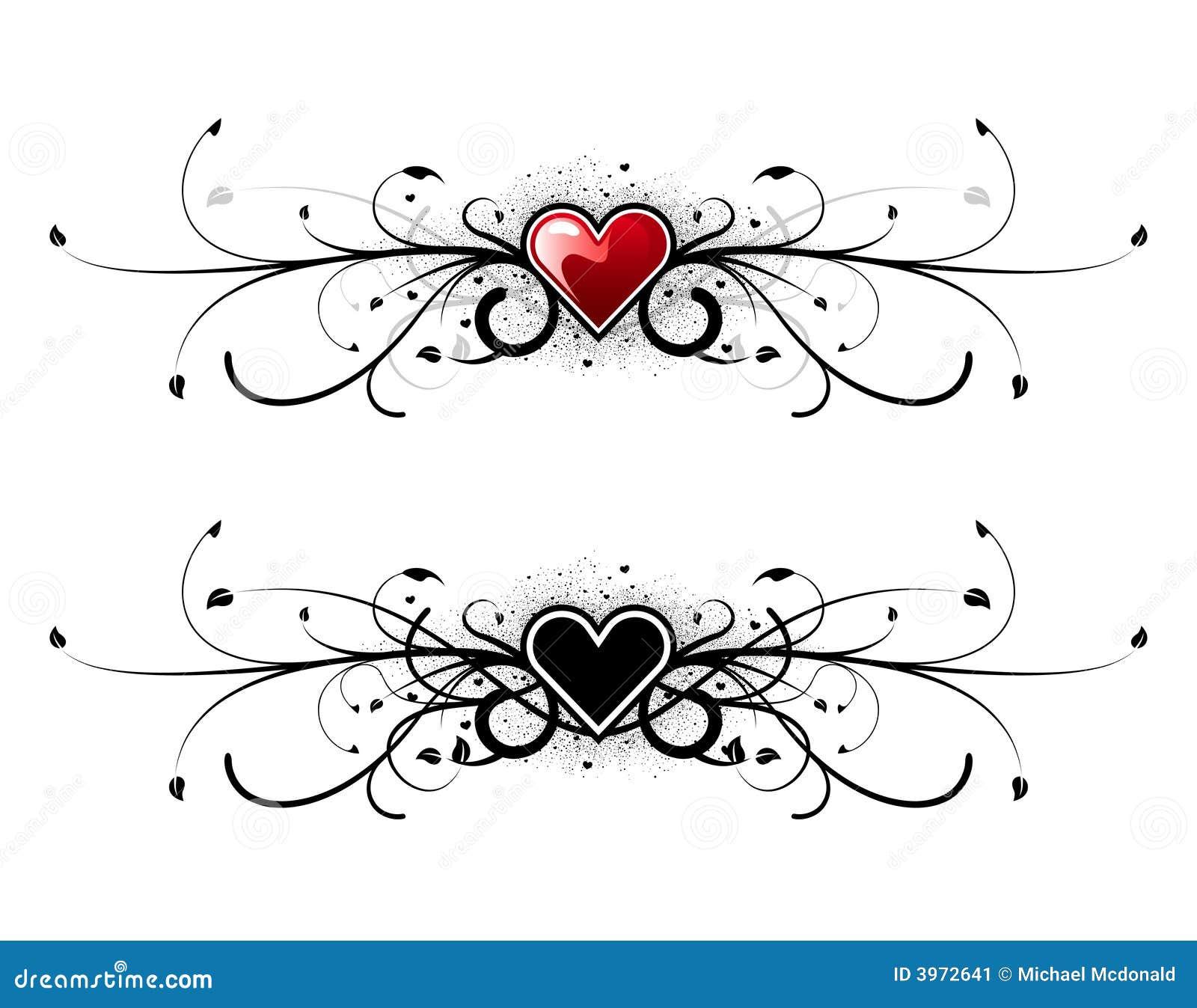 Valentinsgrußinneres mit Blumen