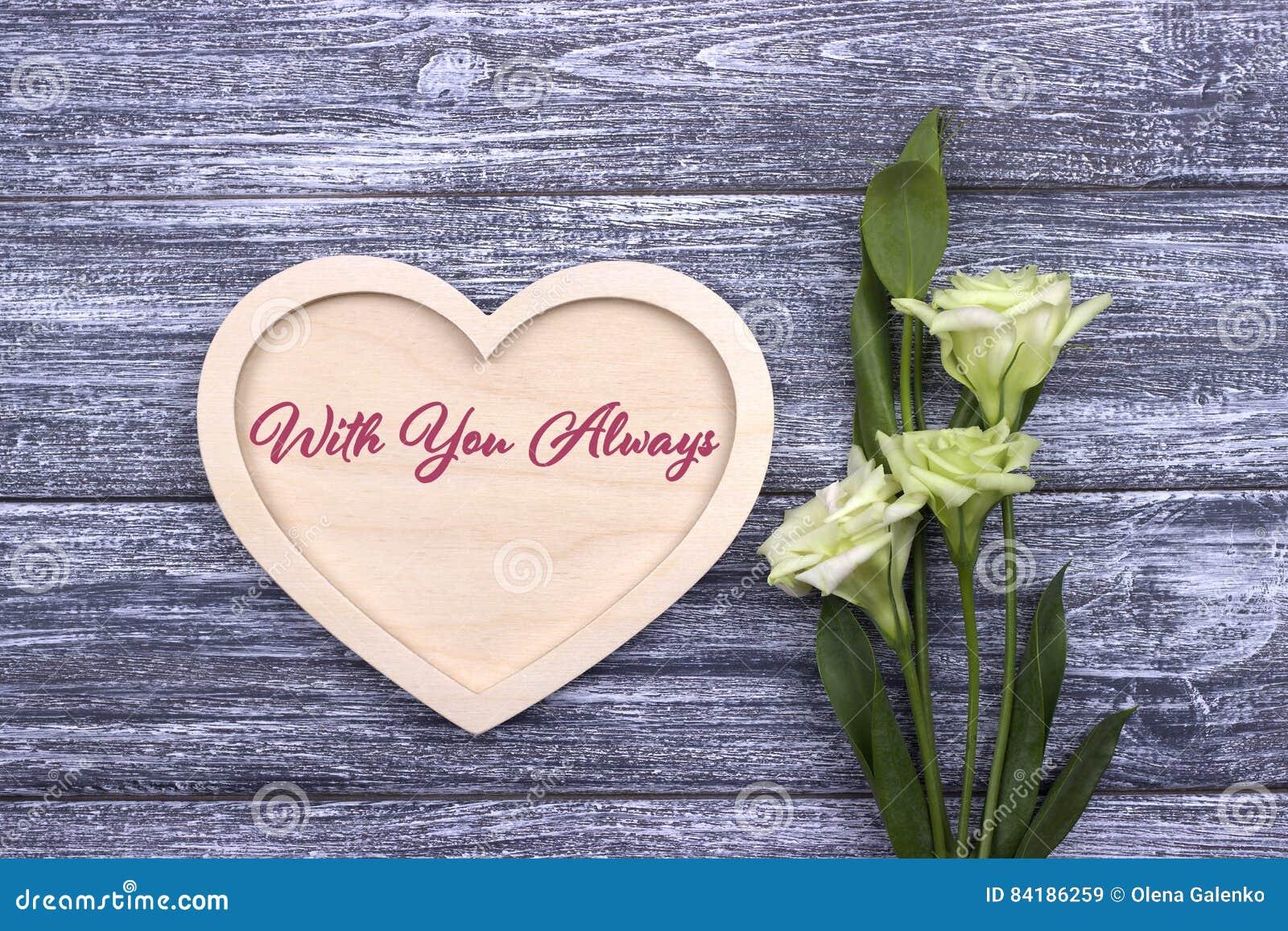 Valentinsgrußkartentext mit Ihnen immer