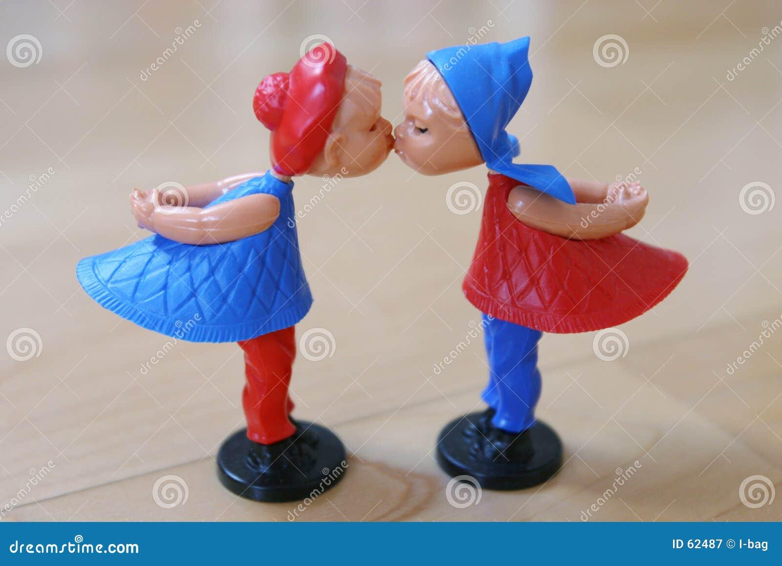 Valentinsgrußmarionettenpaare