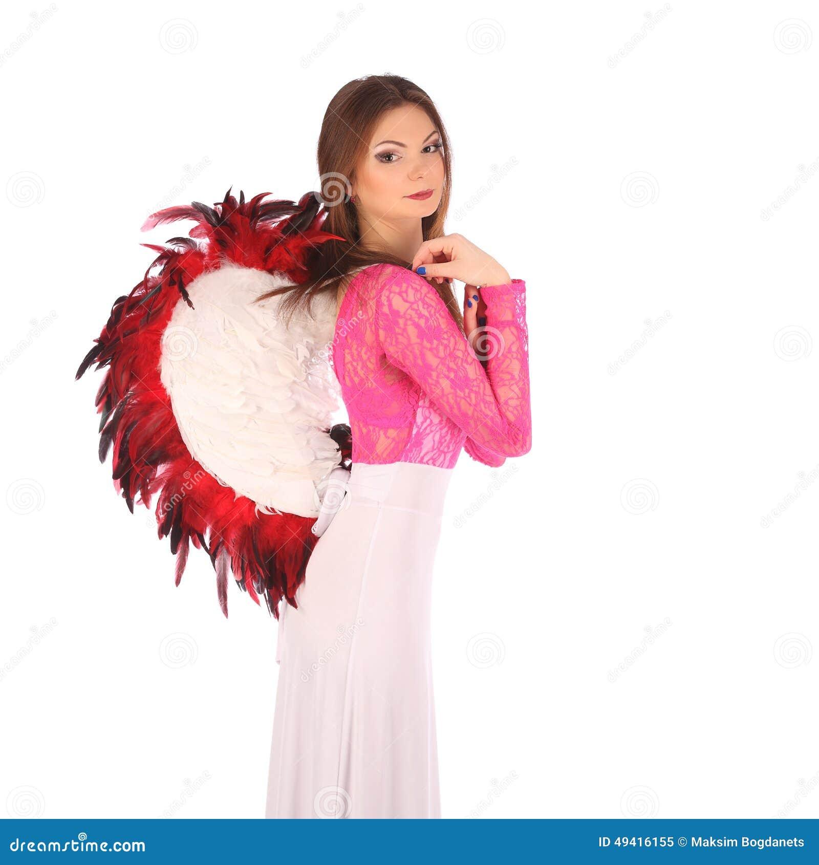 Download Valentinsgrußschönheitsmädchen Mit Winden Stockbild - Bild von schön, begrifflich: 49416155