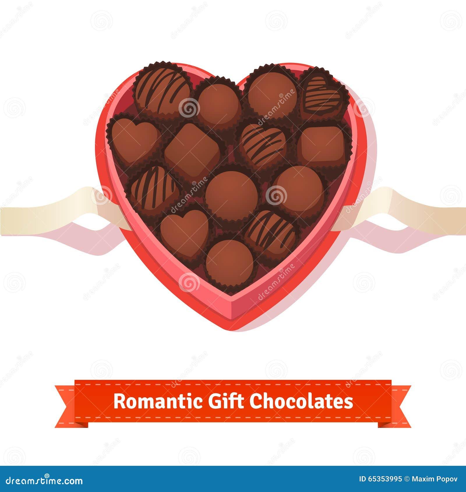 Valentinstag, dunkle Schokoladen des Geburtstages im Kasten