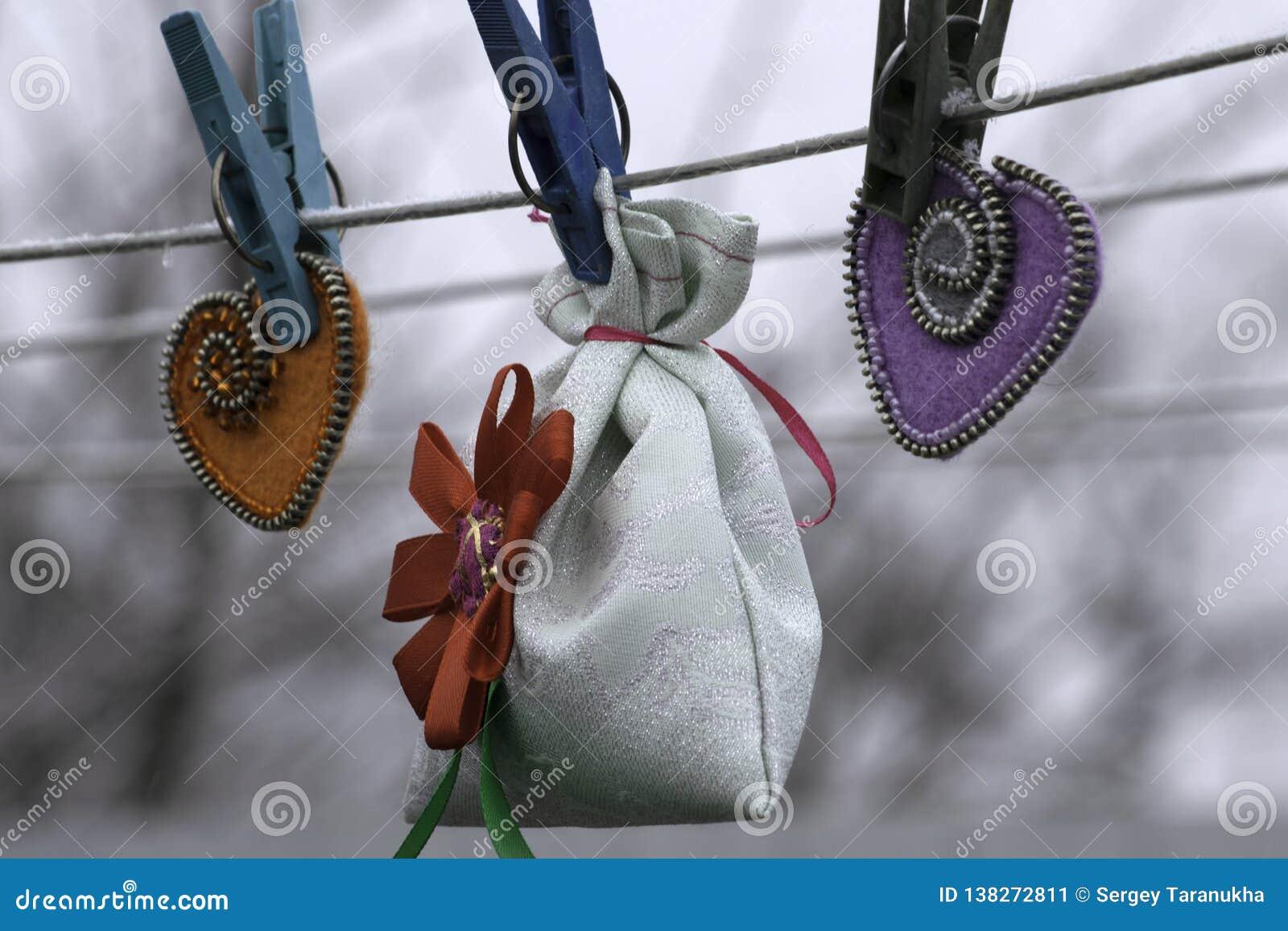 Valentinstag, handgemachte Produkte vom Filz