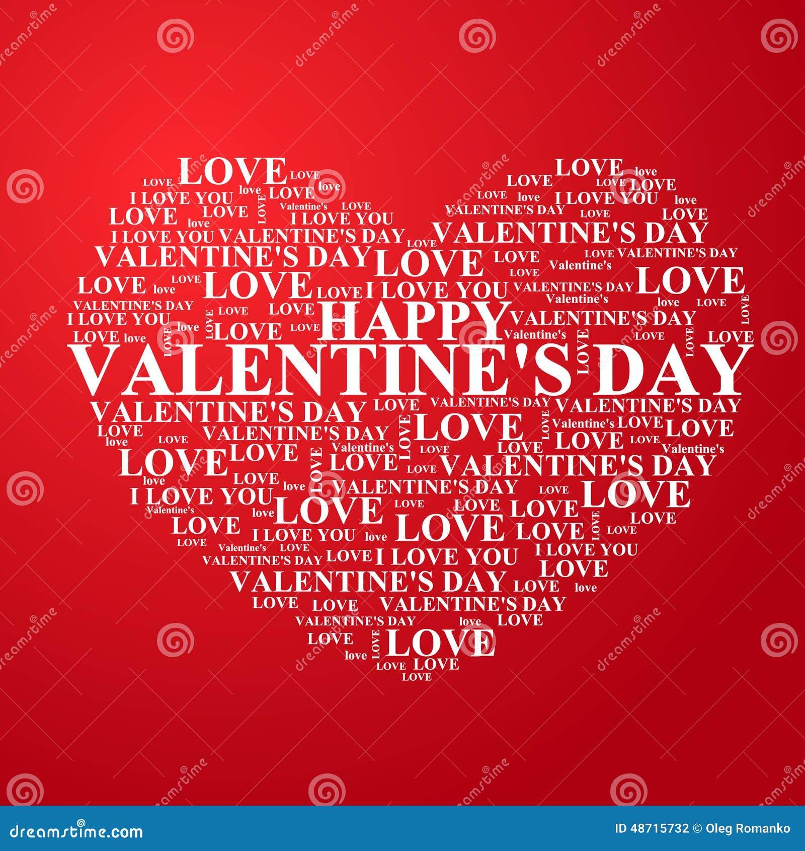 Valentinstag Herz Mit Einem Gluckwunsch Nach Innen Vektor Abbildung