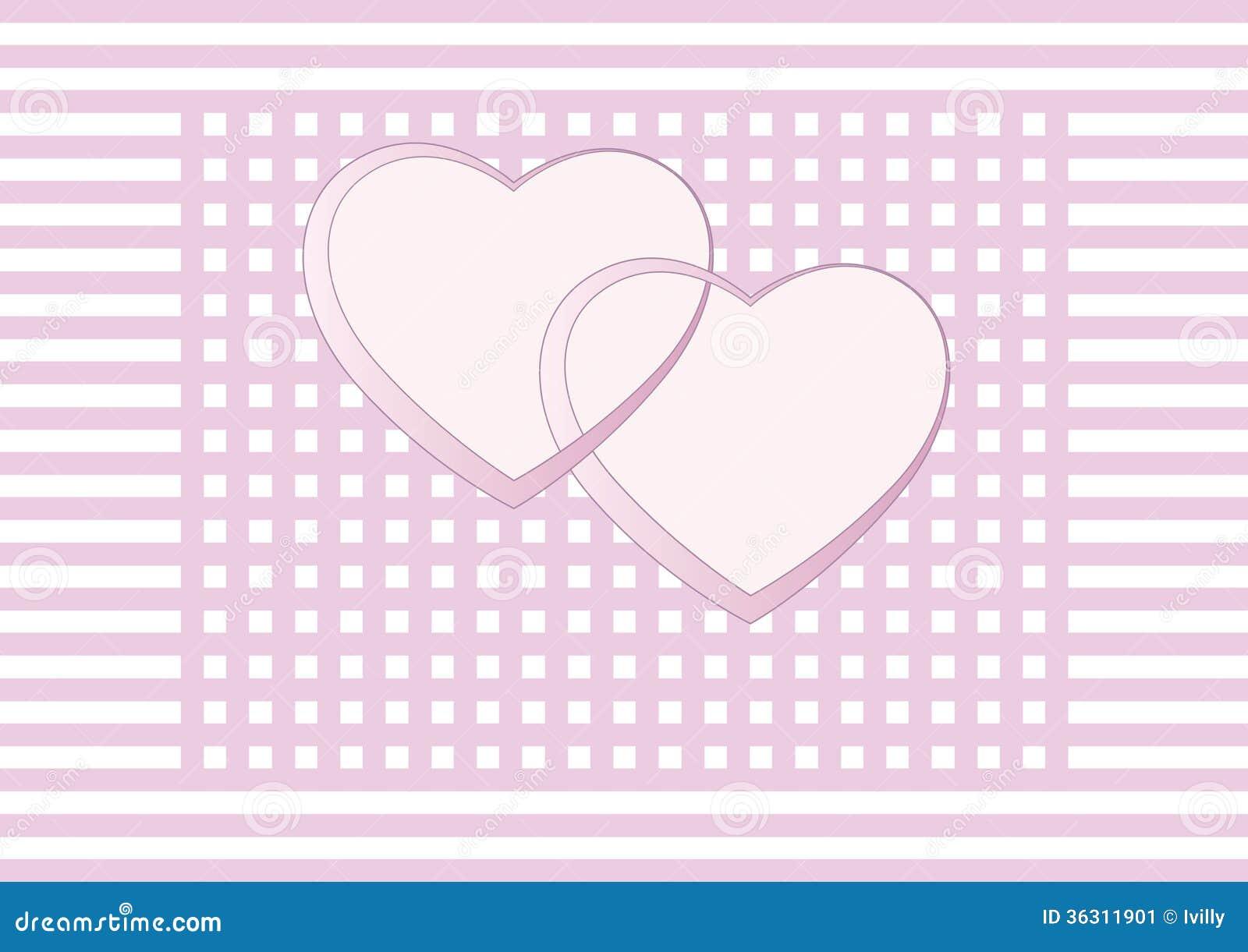 Valentinstag Hochzeits Karte Einladung Stock Abbildung