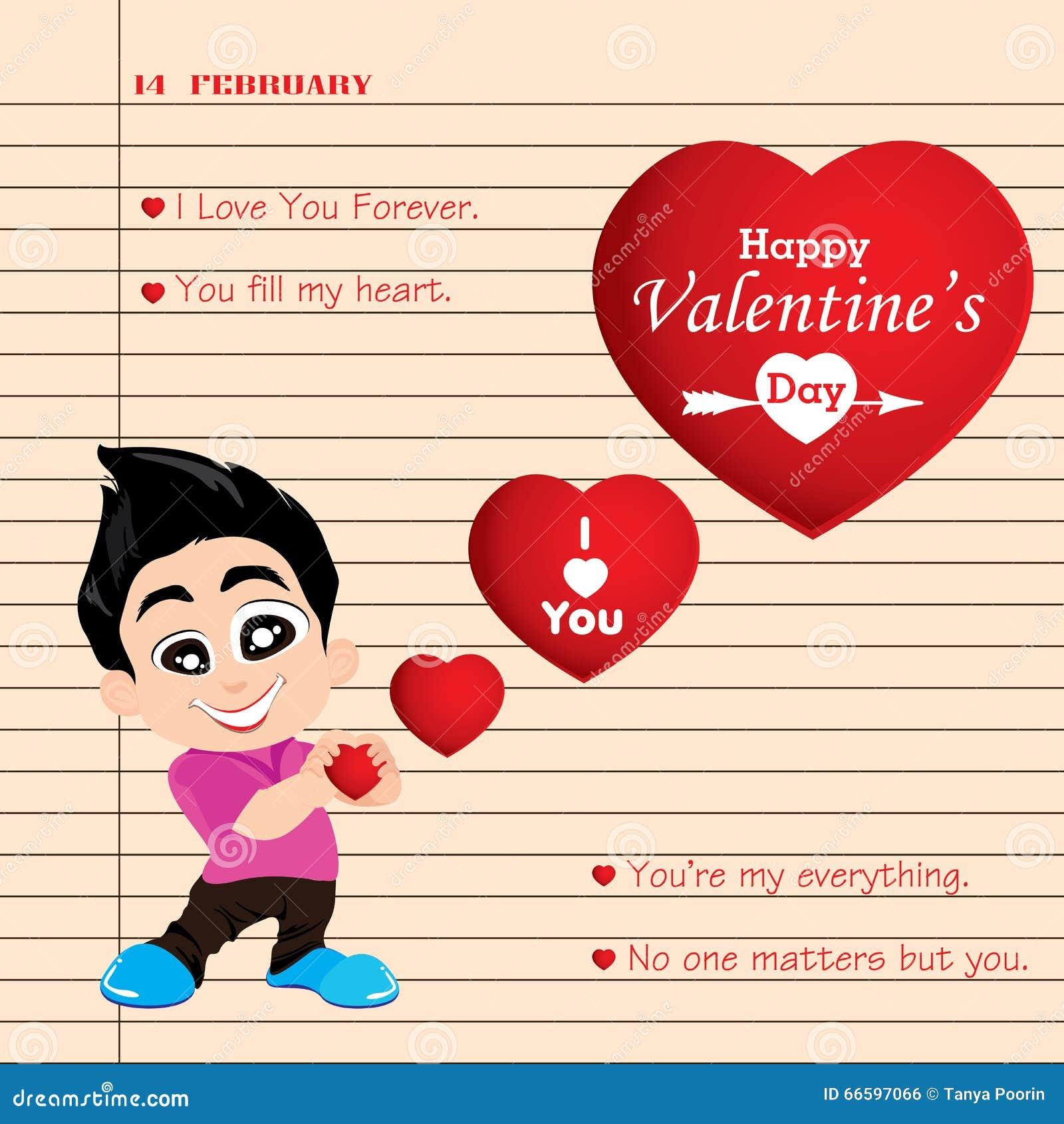 Valentinstag Und Freund-Liebe Bekennen Auf Anmerkungshintergrund ...