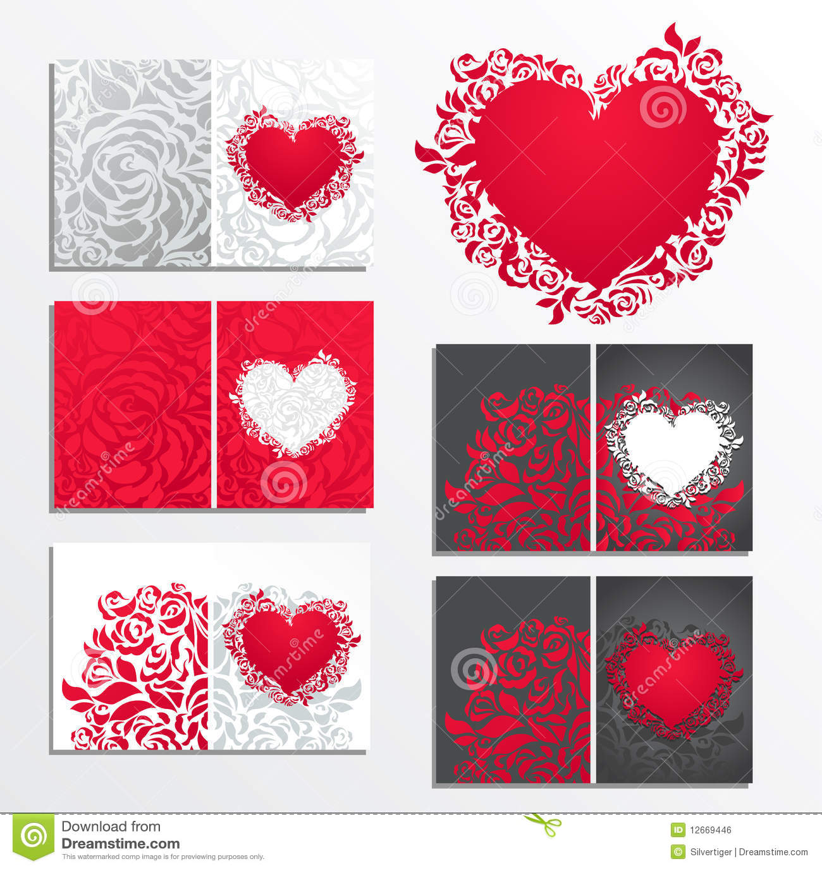 Valentinstagblumengrußkarten