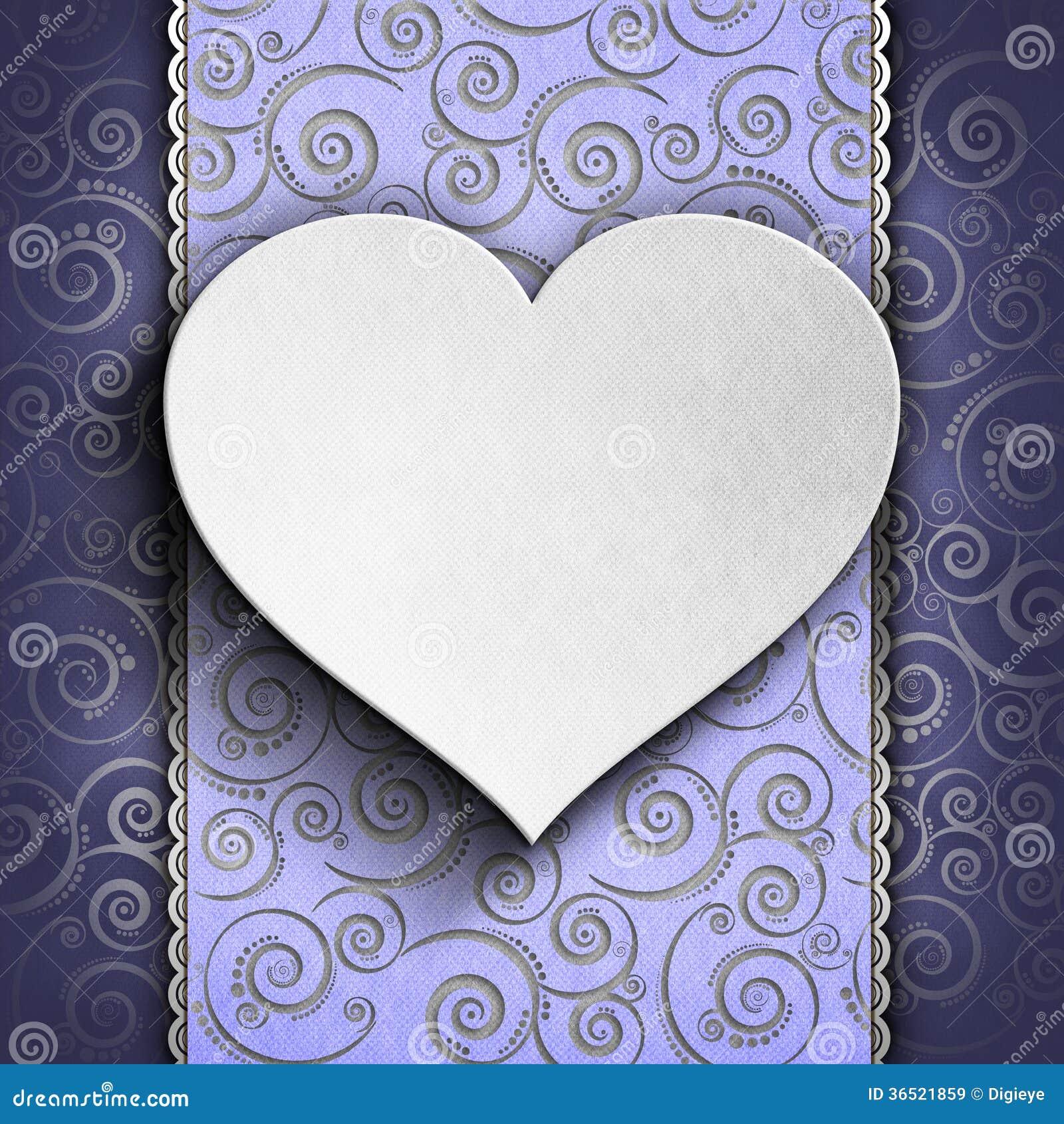 Valentinstaghintergrund - Grußkartenschablone