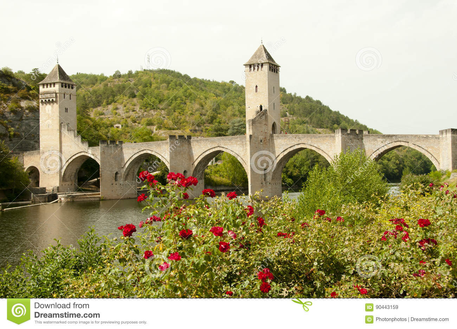 valentre bridge in cahors france stock photography 36273428. Black Bedroom Furniture Sets. Home Design Ideas