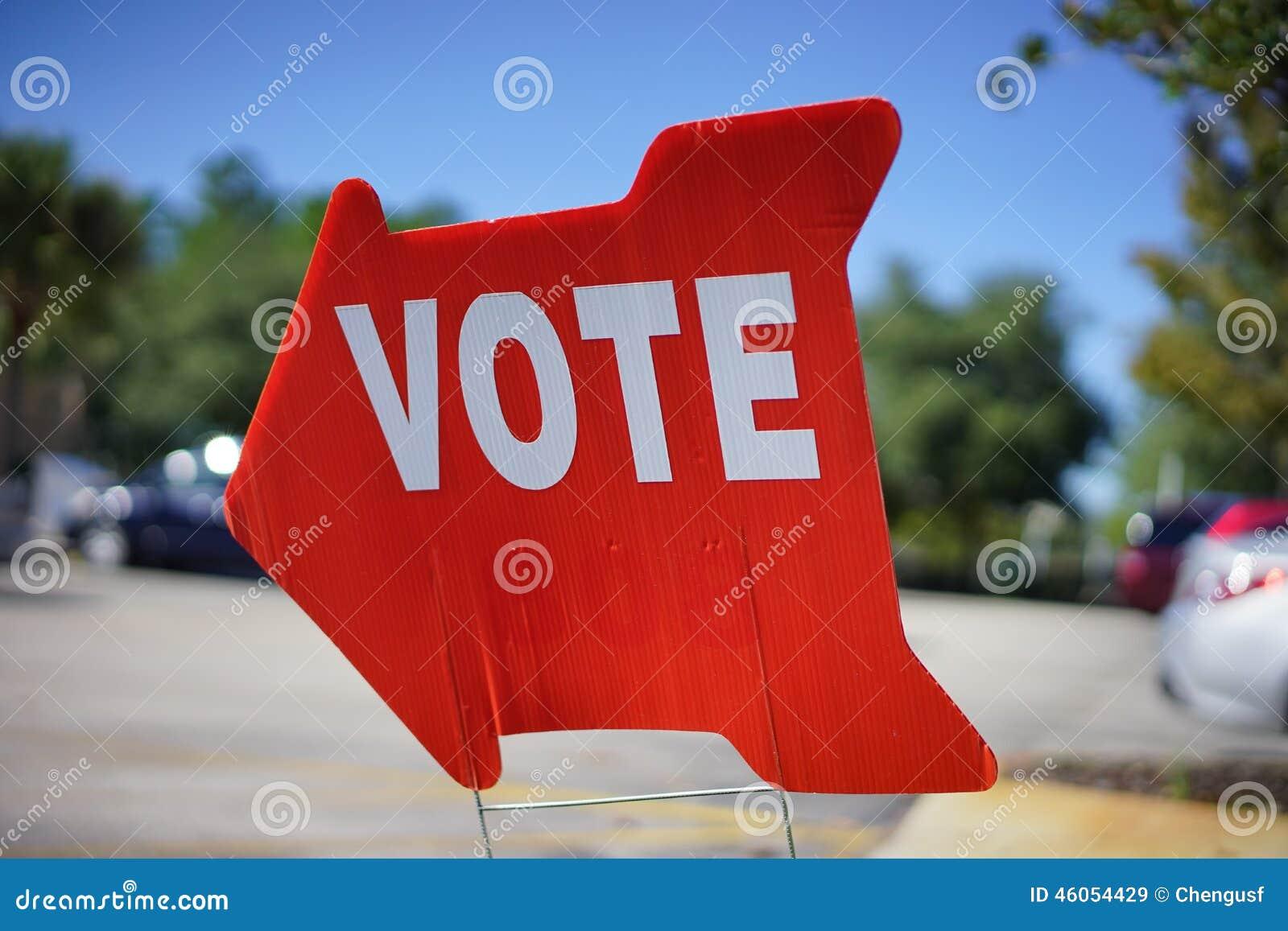 Valet röstar tecknet