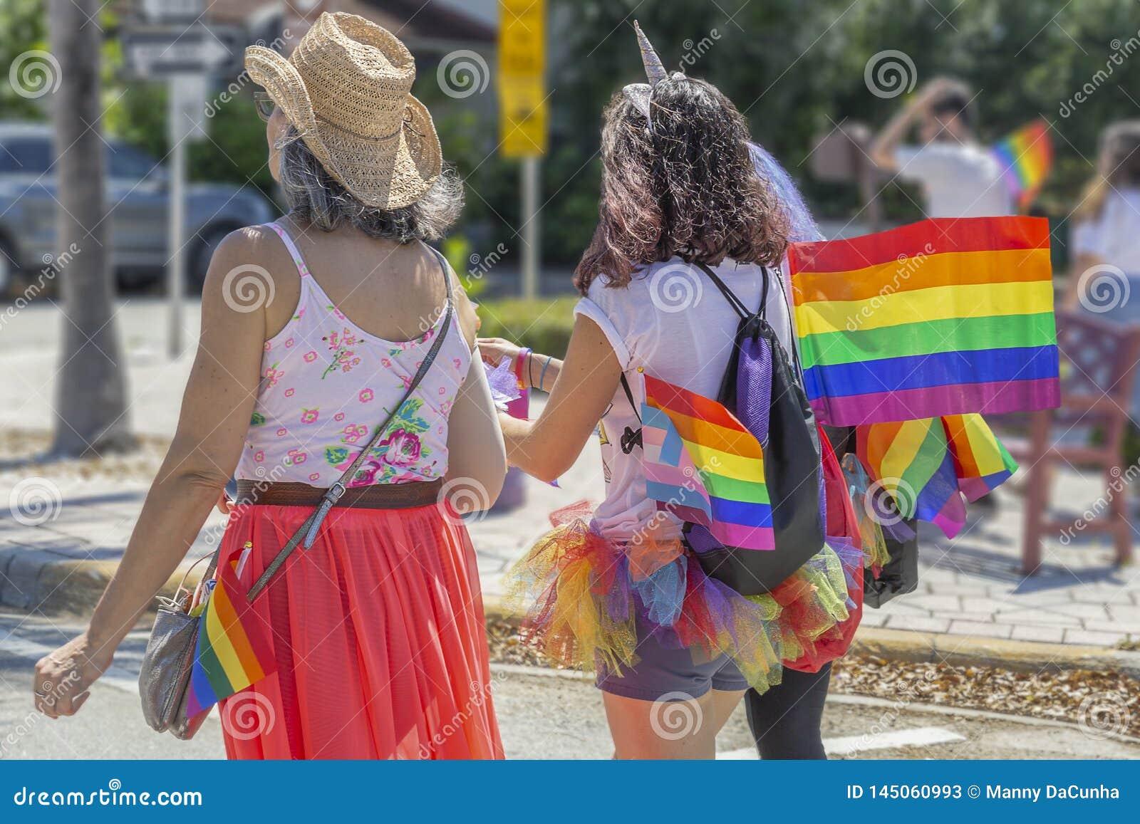 Valeur de lac, la Floride, Etats-Unis le 31 mars 2019 avant, Palm Beach Pride Parade