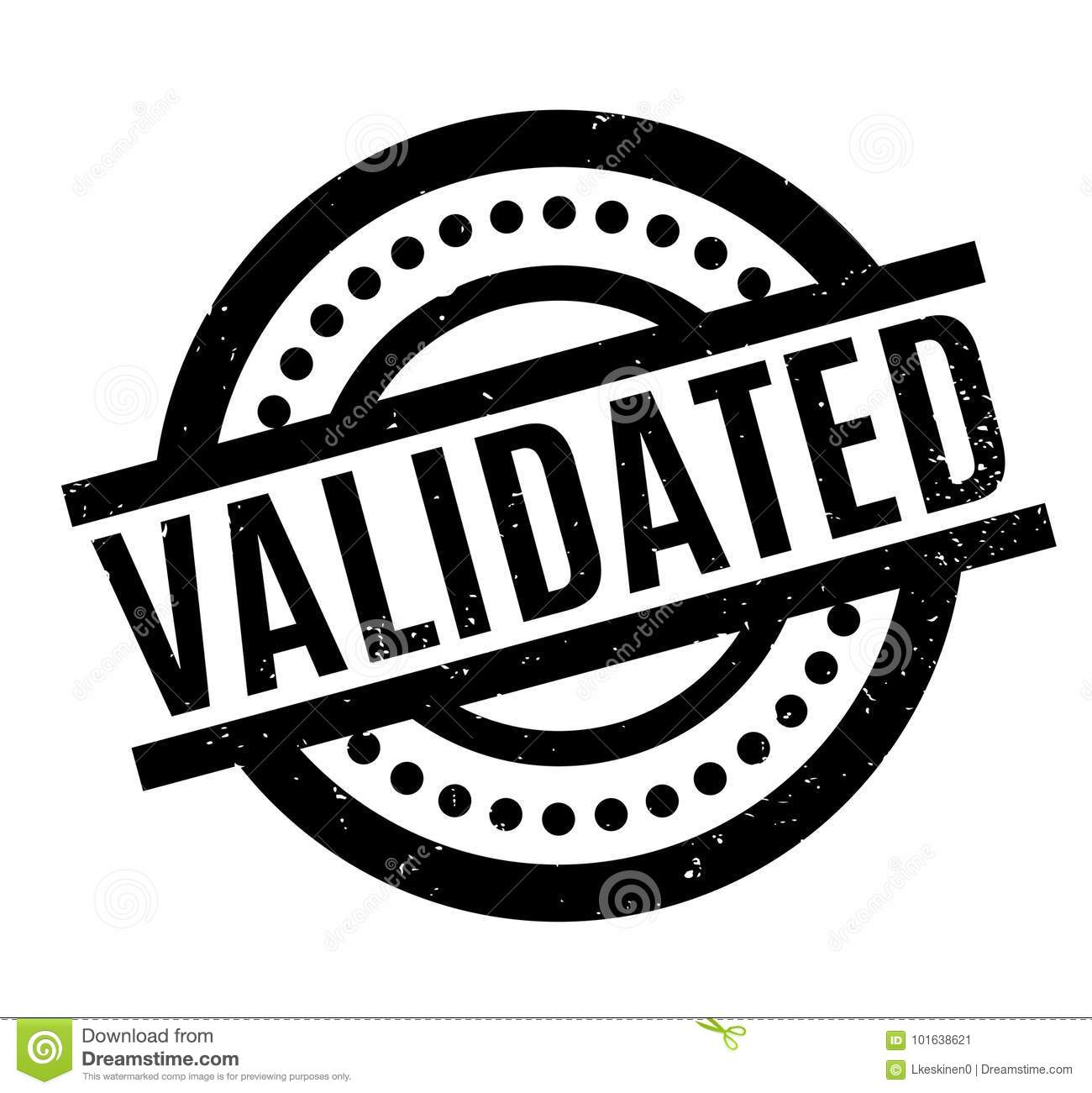 Validated Rubber Stamp Stock Vector Illustration Of Authorise