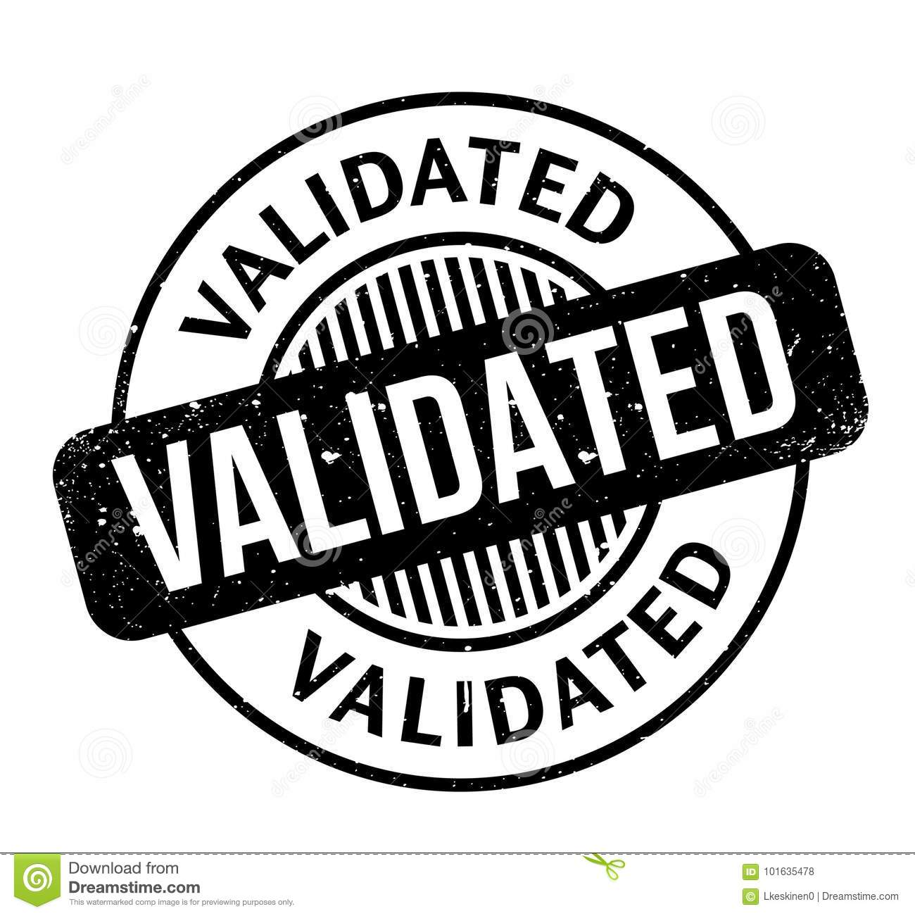 Validated Rubber Stamp Stock Vector Illustration Of Mark