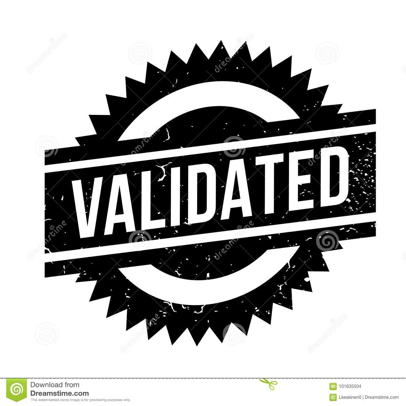 Download Validated Rubber Stamp Stock Vector Illustration Of Certify