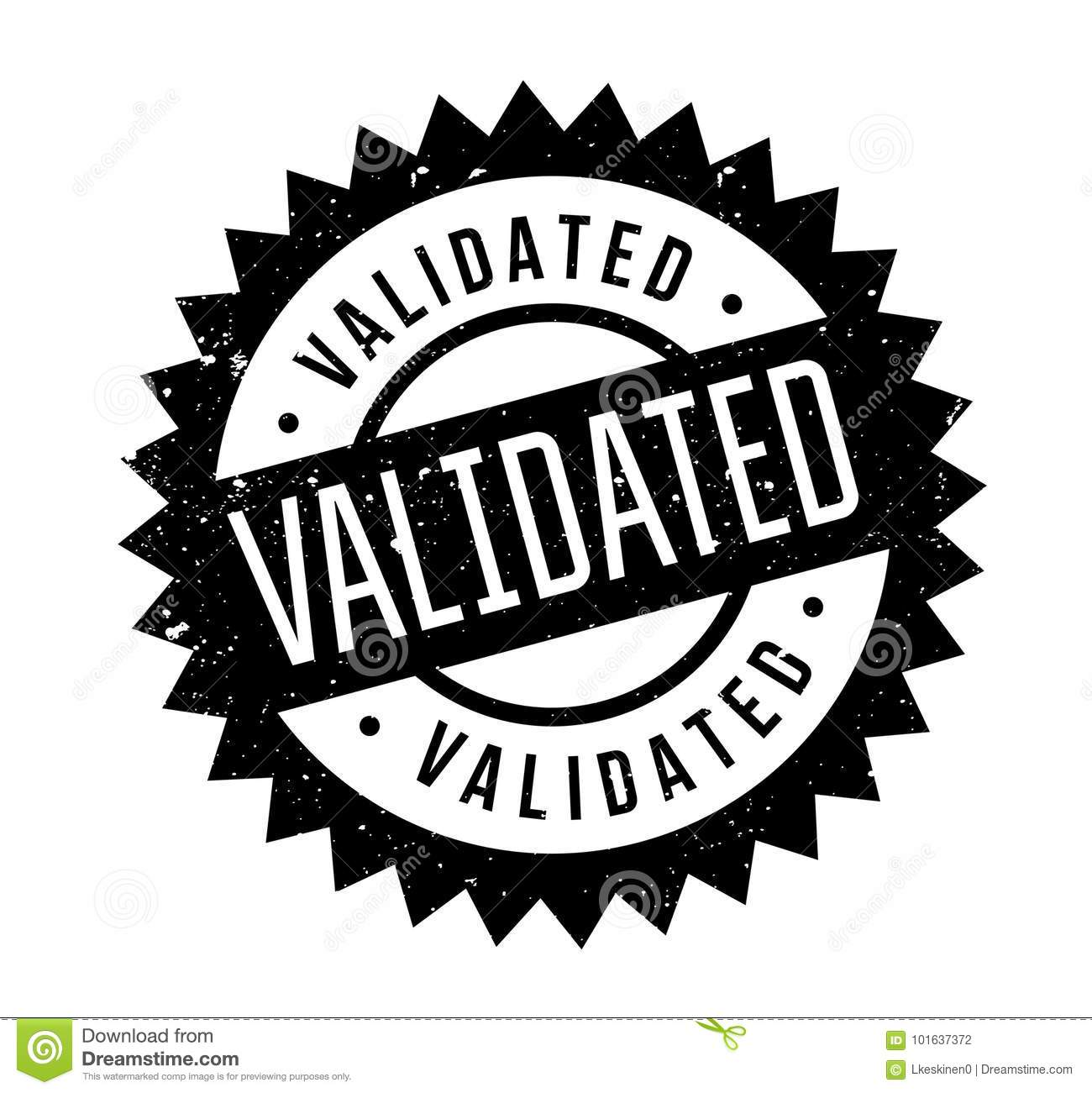 Validated Rubber Stamp Stock Vector Illustration Of