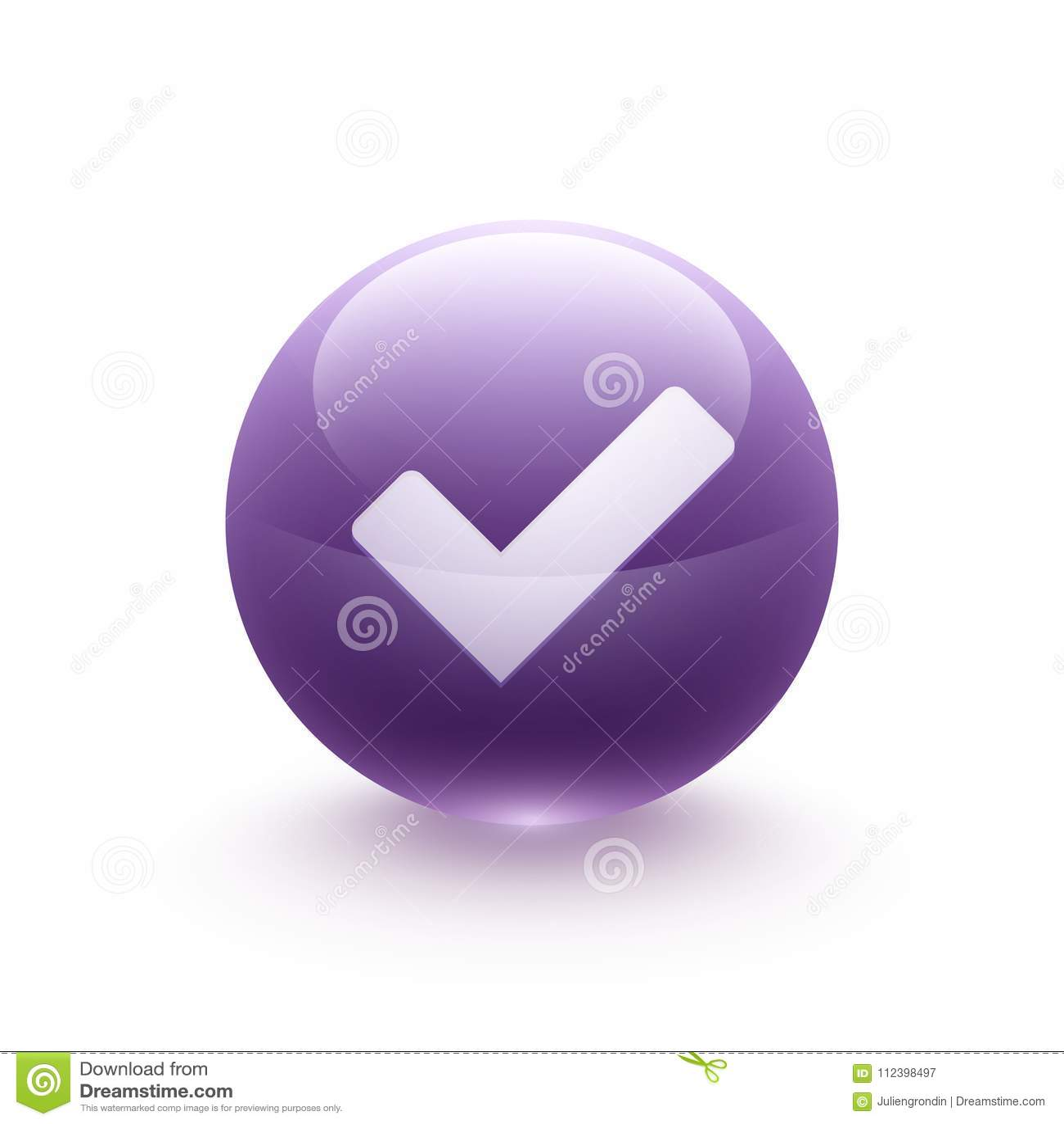 Validation icon sphere