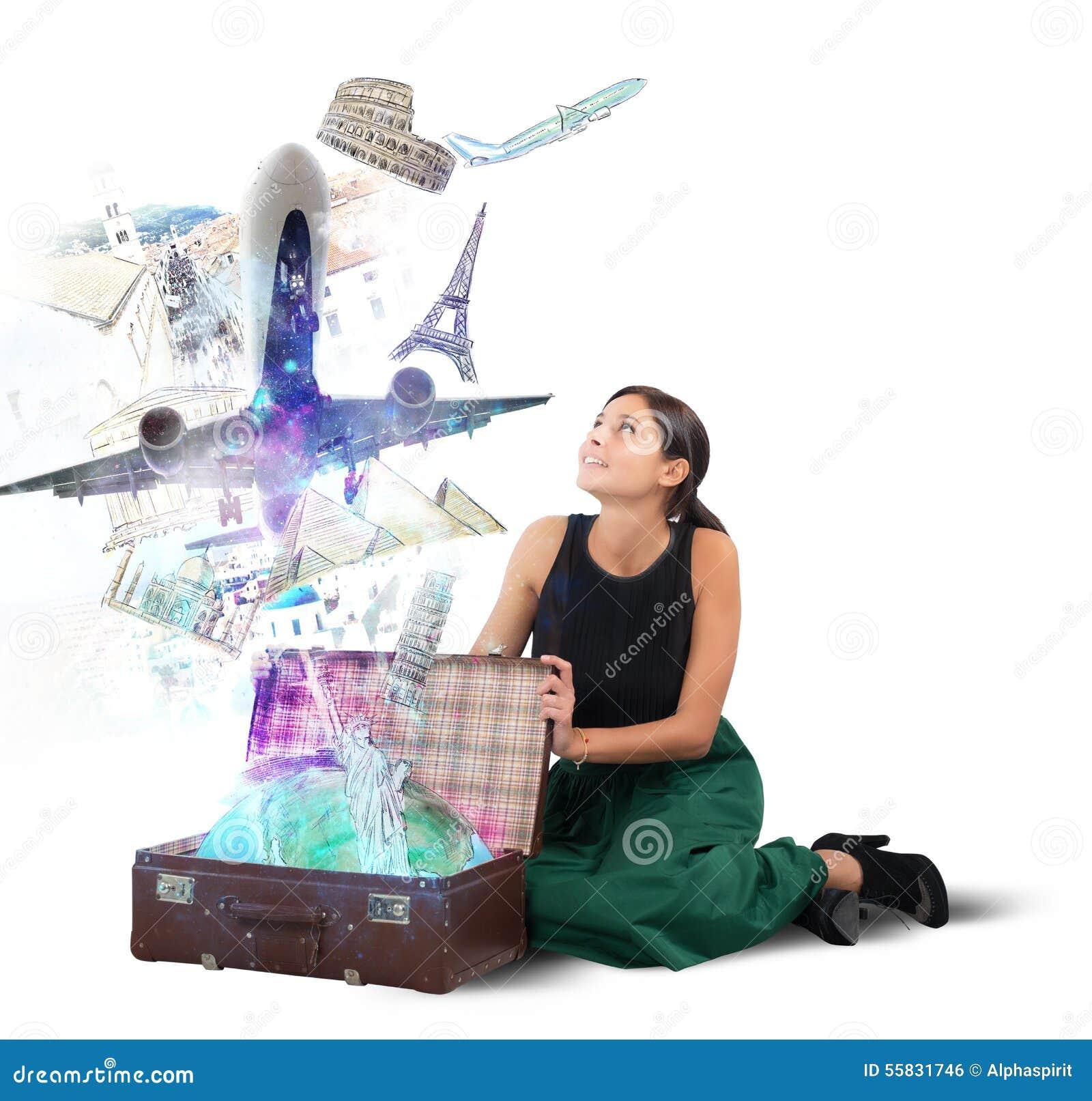 Valigia in pieno delle memorie