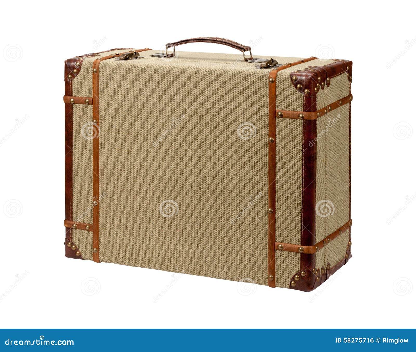 valise en bois de toile de jute de deco avec le chemin de coupure photo stock image 58275716. Black Bedroom Furniture Sets. Home Design Ideas
