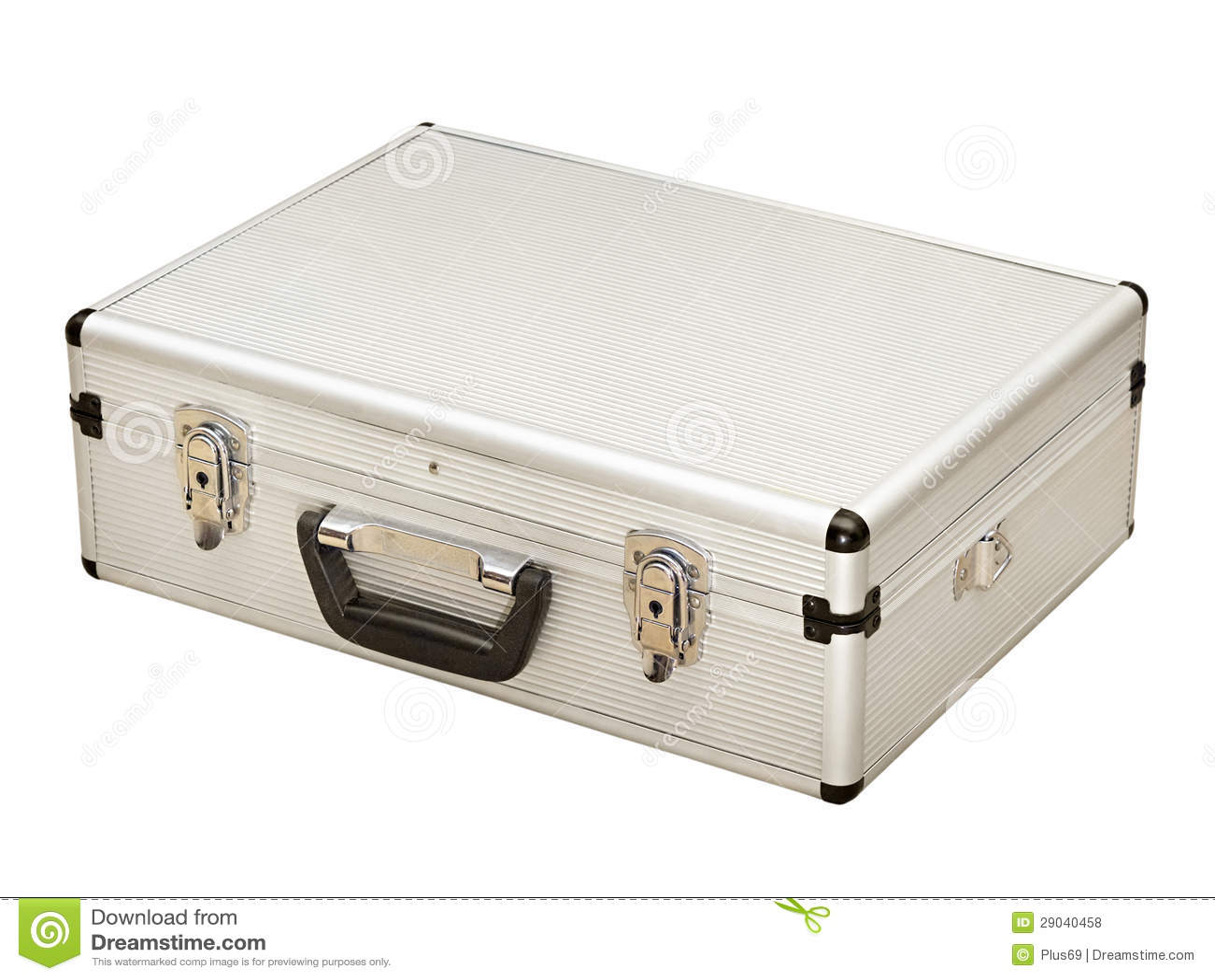 valise grise en m tal photos libres de droits image. Black Bedroom Furniture Sets. Home Design Ideas